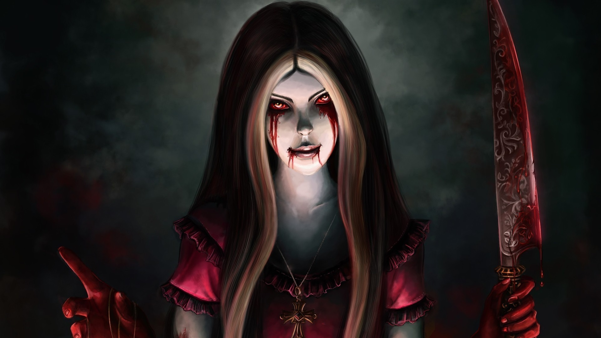 Wallpaper Alice Madness Returns Blood Knife 1920x1440 Hd Picture
