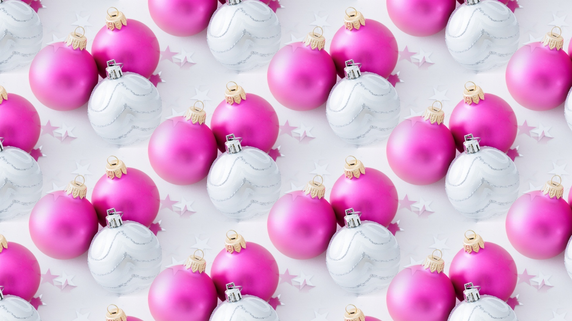 Pink and white Christmas