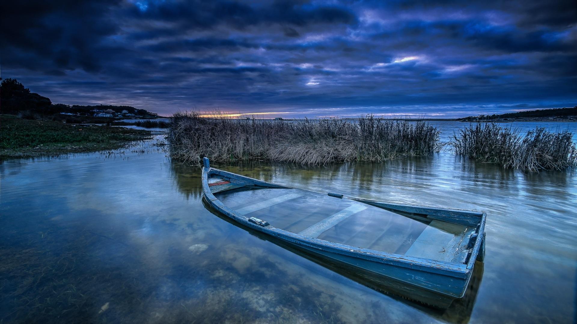 декупаж картинки на рабочий стол река лодка под длинной юбкой