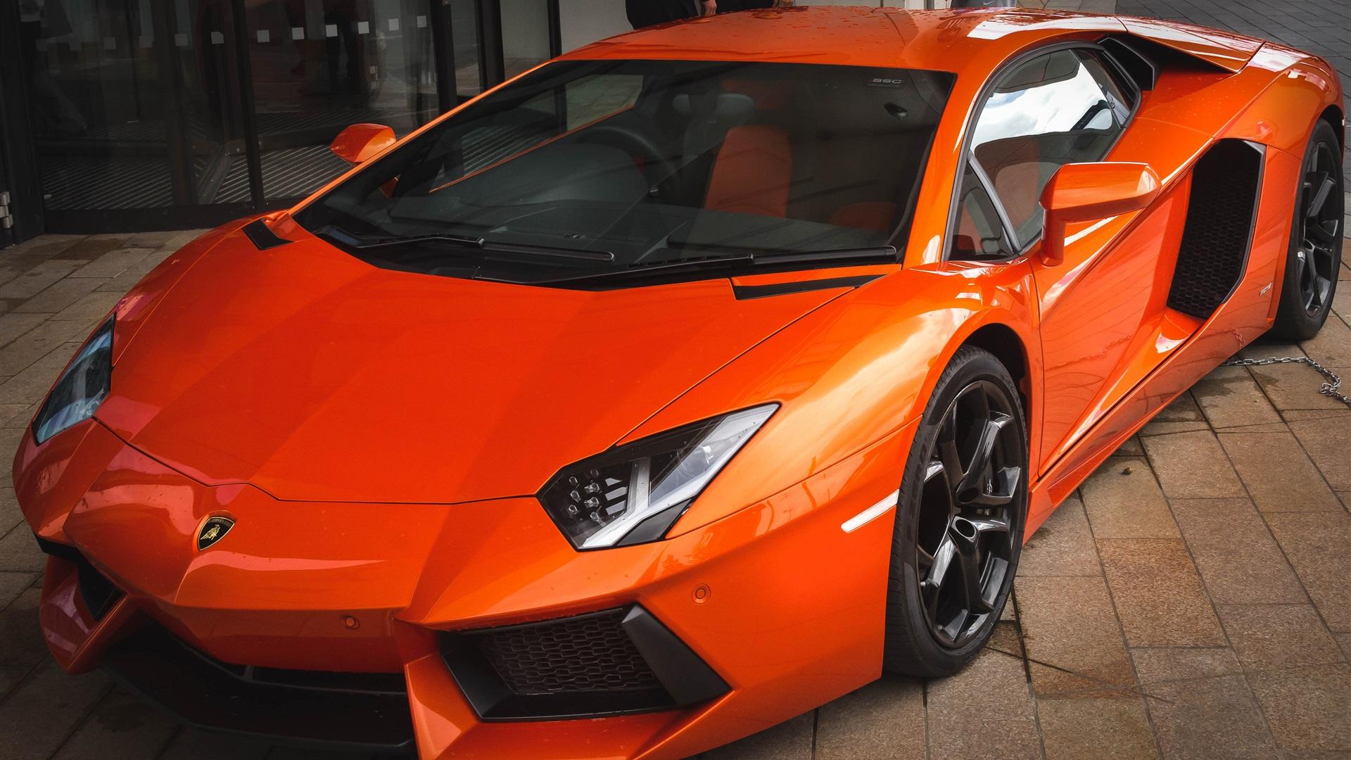 Fonds d'écran Orange Lamborghini voiture de sport 3840x2160 UHD 4K image