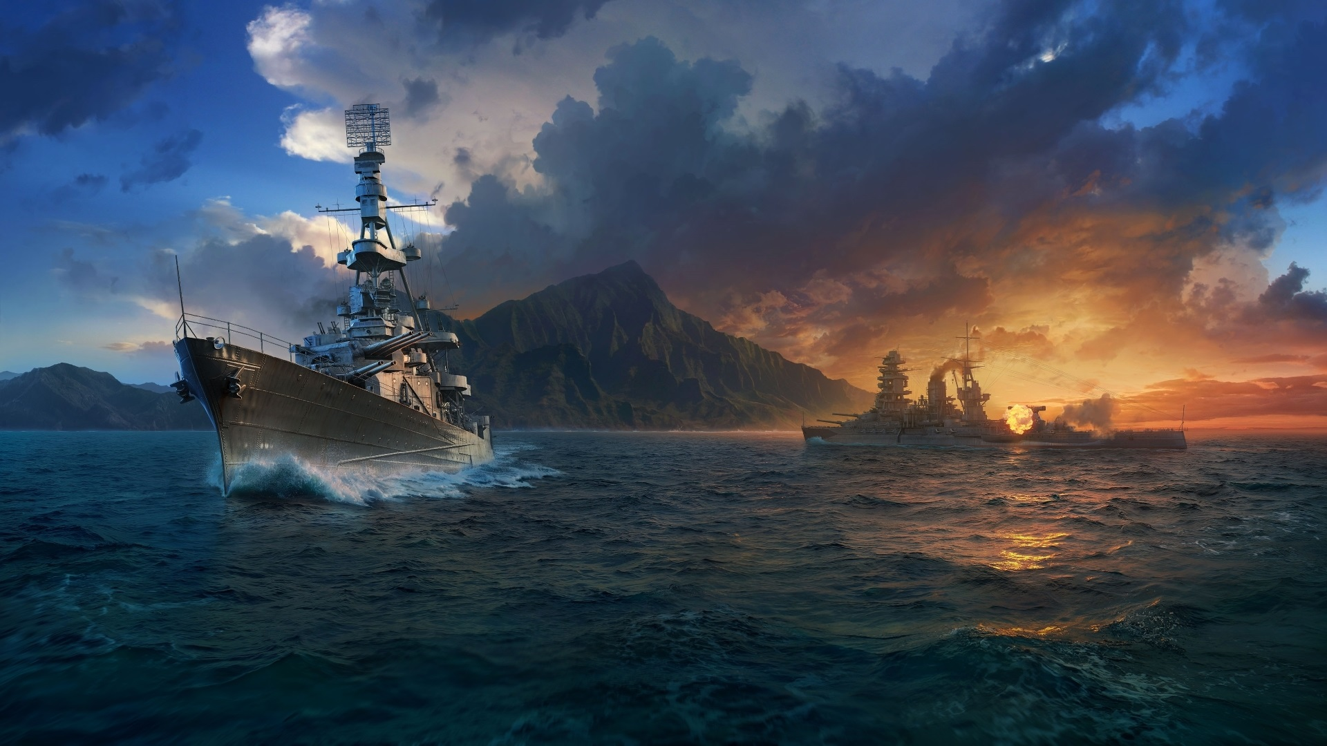 Wallpaper World Of Warships Games Hd 1920x1080 Full Hd 2k Picture
