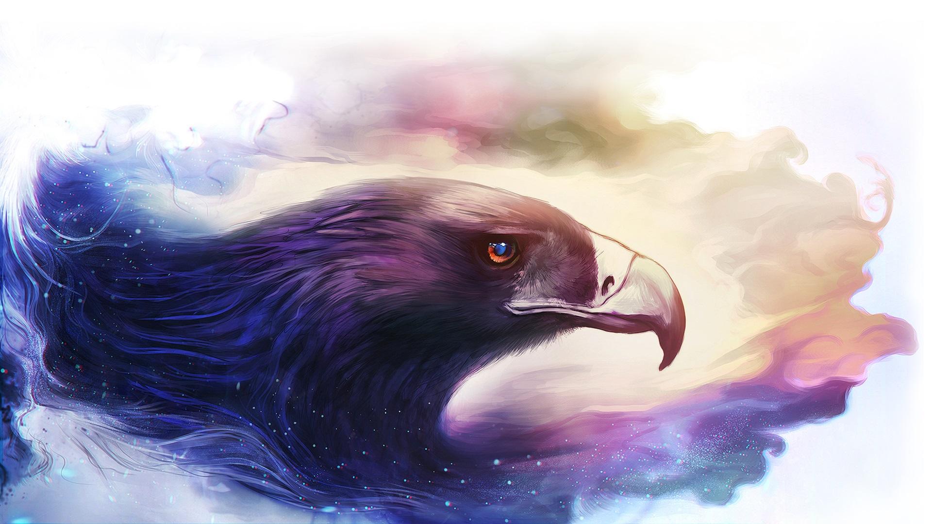 Art drawing, bird, eagle Wallpaper | 1920x1080 Full HD ... Hd Wallpaper 1920x1080 Free Download
