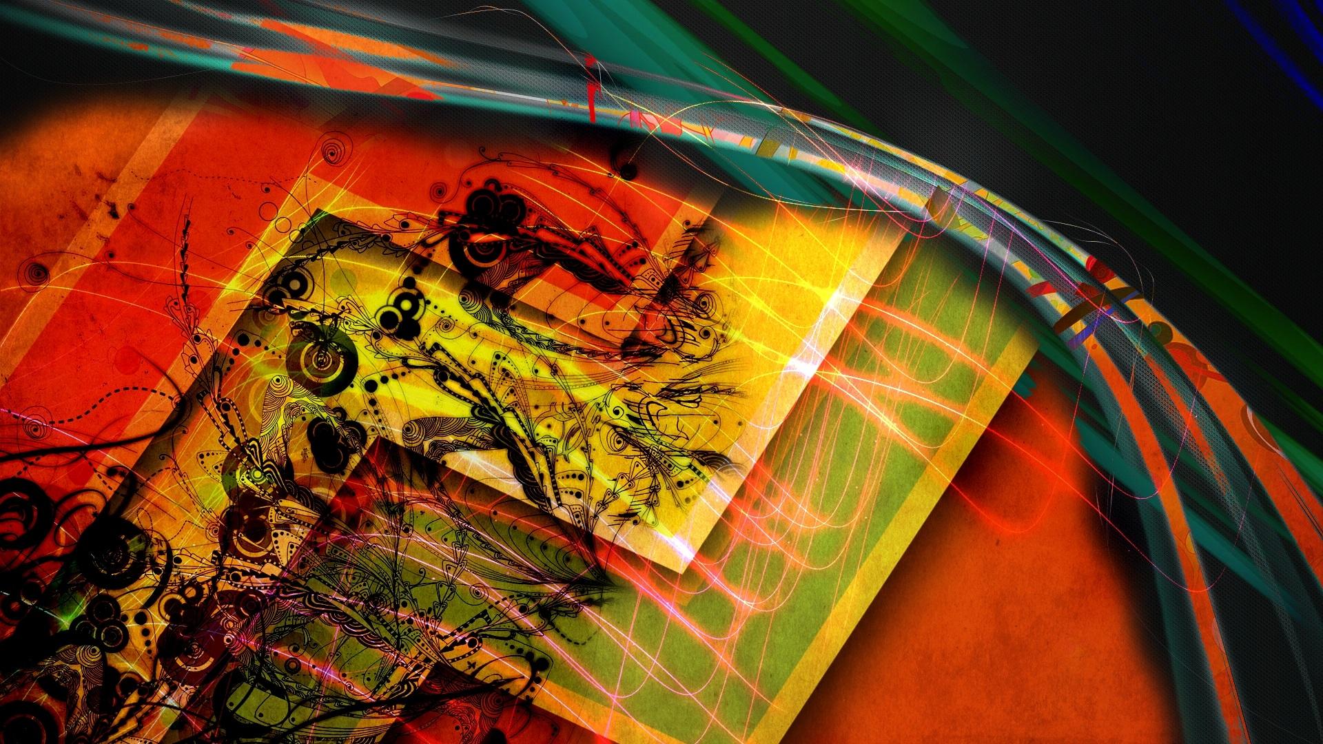 1920x1080 Abstracto Full Hd 1920x1080: Rayas Coloridas, Líneas, Imagen Abstracta Fondos De