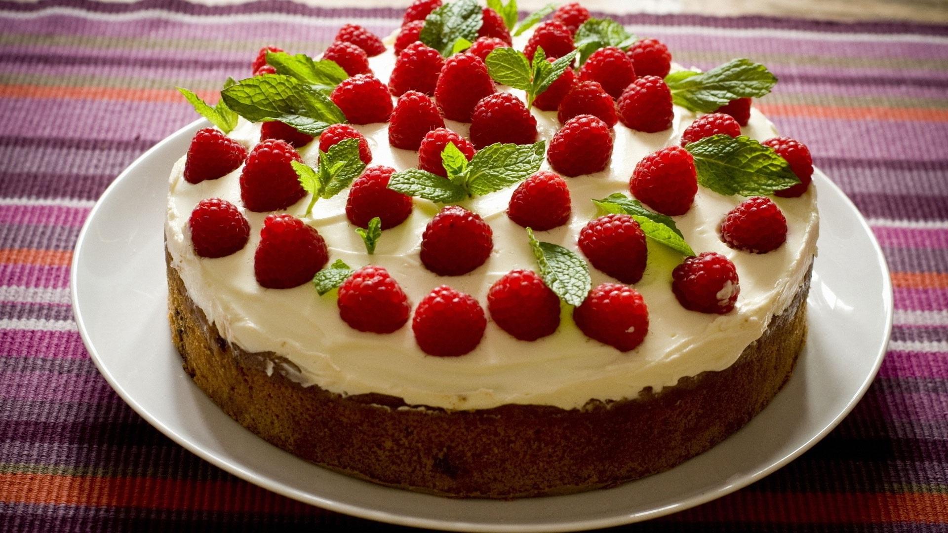 Wallpaper Raspberry Cake Cream Dessert 1920x1080 Full Hd 2k Picture Image