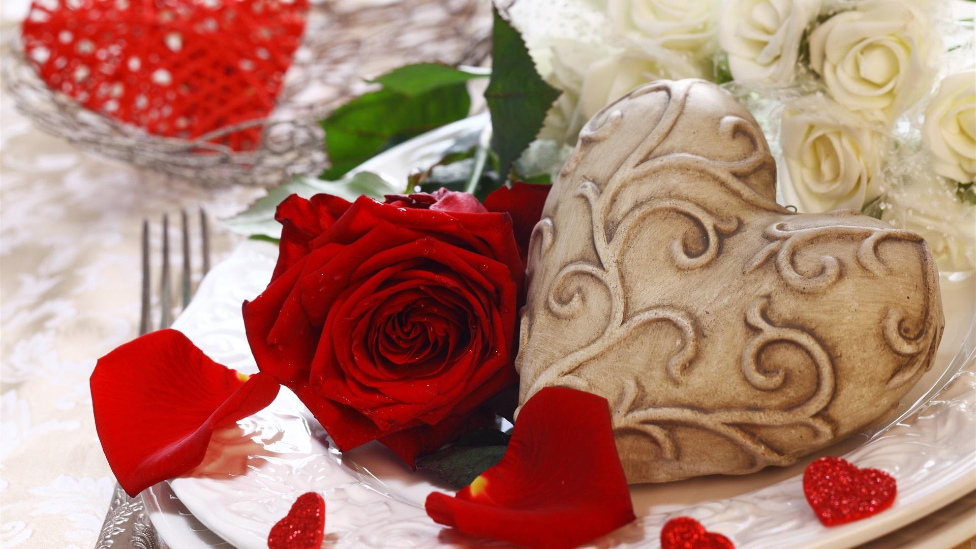 Wallpaper Red Rose Love Heart Romantic 3840x2160 Uhd 4k