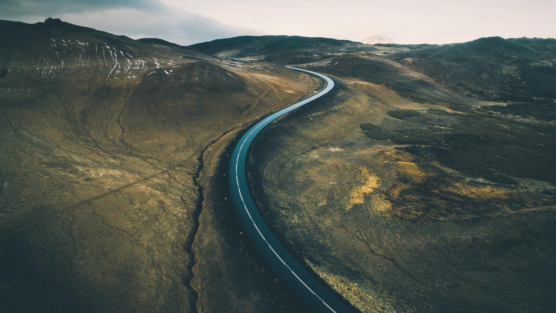 Hd wallpaper road - Road Hills Rift Dusk Wallpaper 1920x1080 Full Hd