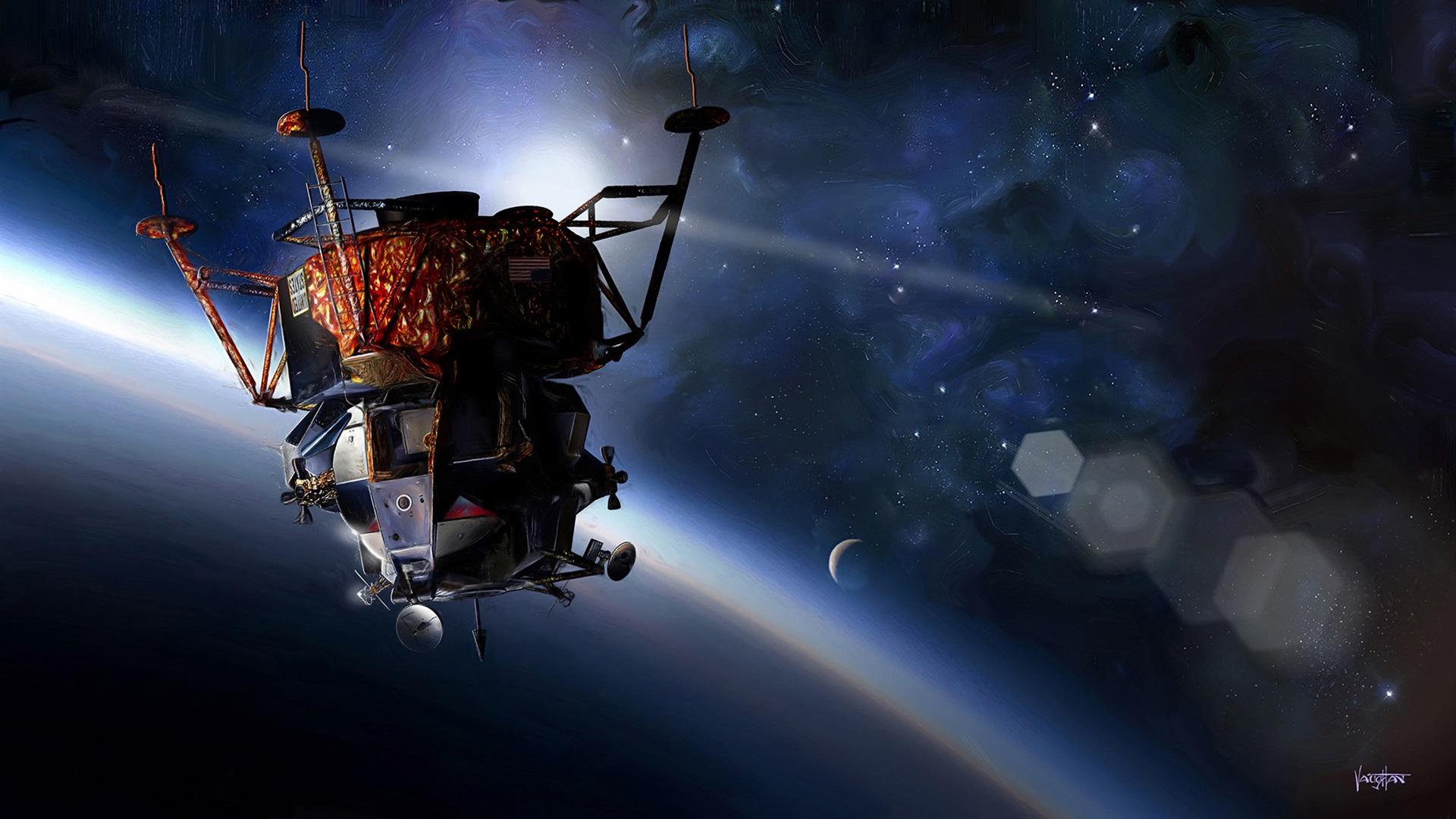 壁紙 アポロ 9宇宙船 宇宙 惑星 19x1080 Full Hd 2k 無料のデスクトップの背景 画像