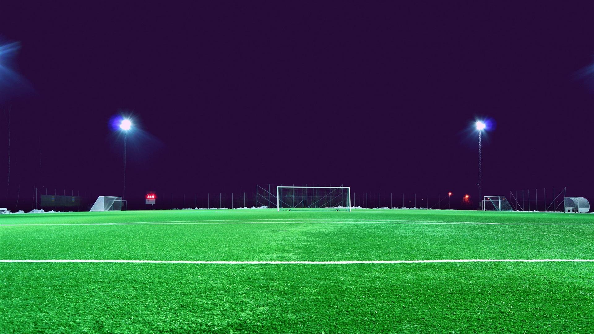 campo de f tbol c sped luces fondos de pantalla