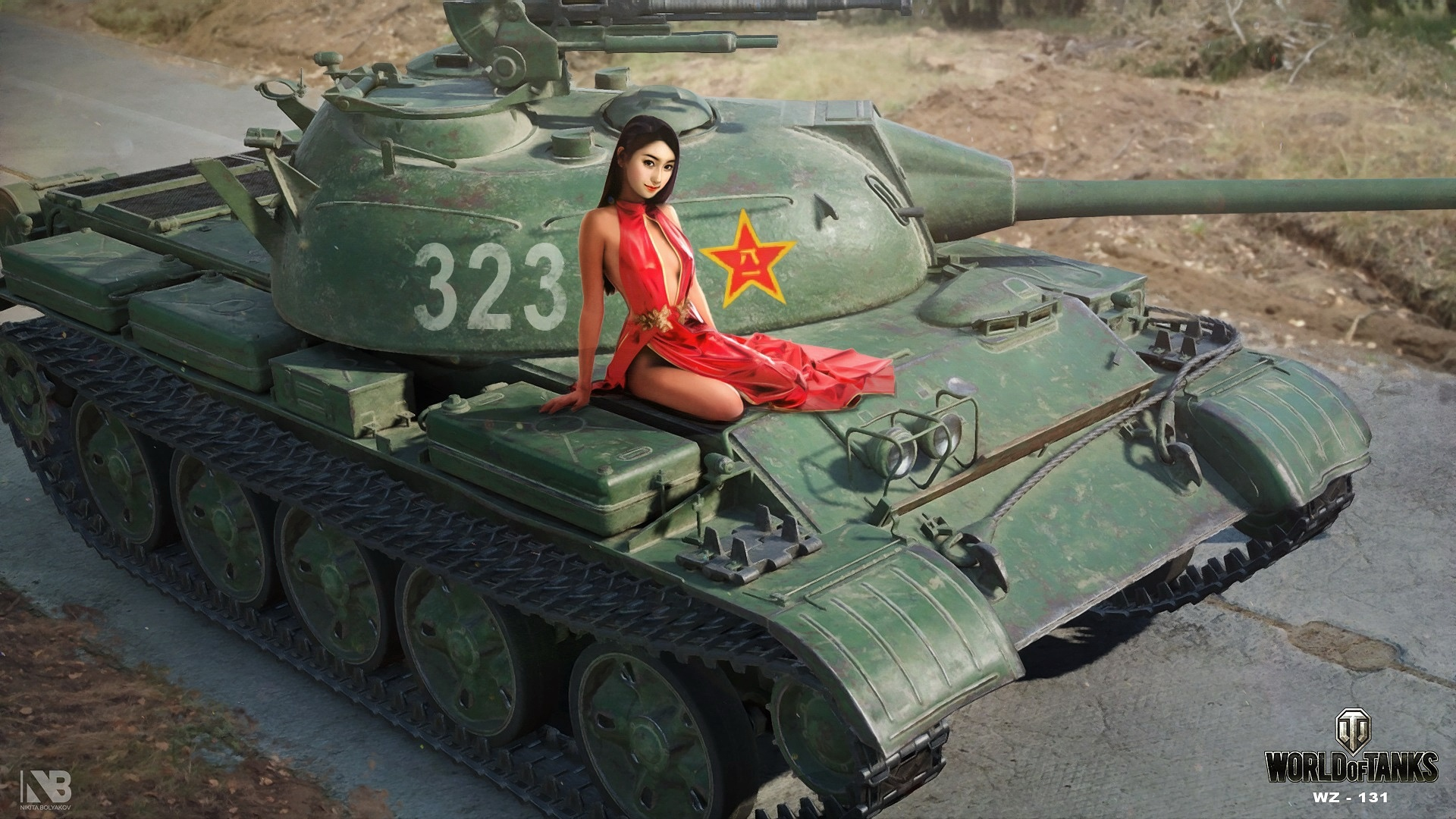 Wallpaper World Of Tanks, Chinese Girl, Sexy 1920X1080 -5265
