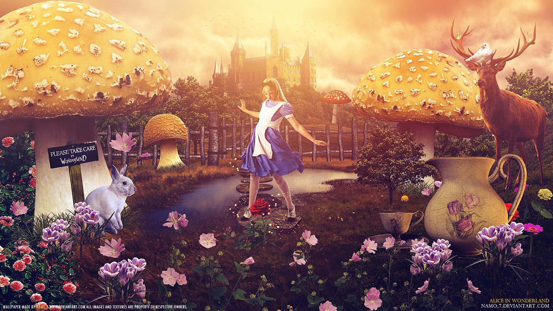 Wallpaper Alice In Wonderland Creative Picture 1920x1080 Full Hd
