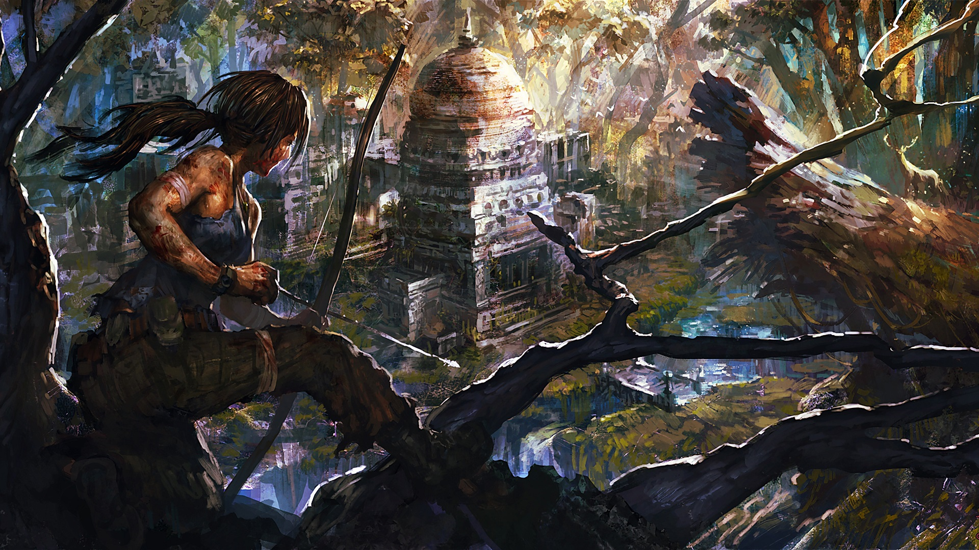 7680x4320 Lara Croft 8k Artwork 8k Hd 4k Wallpapers: Papéis De Parede Desenho De Arte, Tomb Raider, Lara Croft