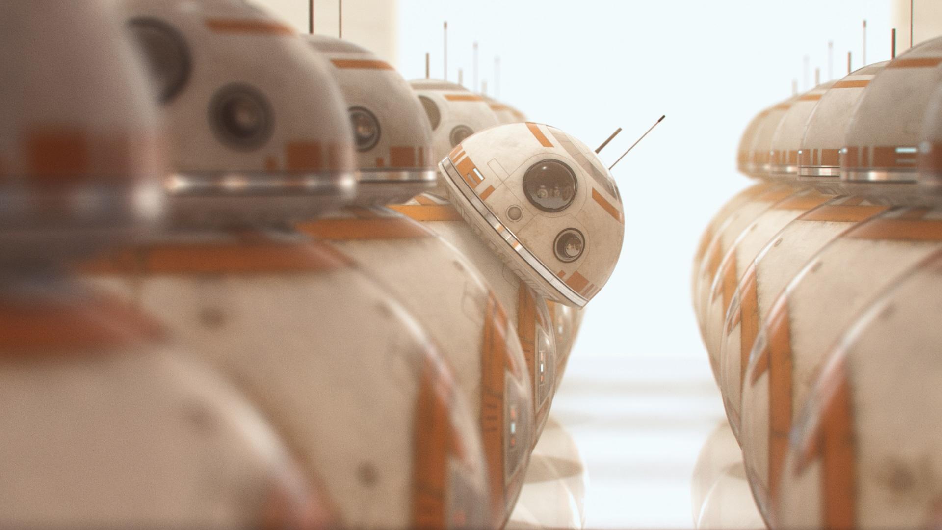 Wallpaper Bb8 Robots One Curious Star Wars 1920x1080 Full
