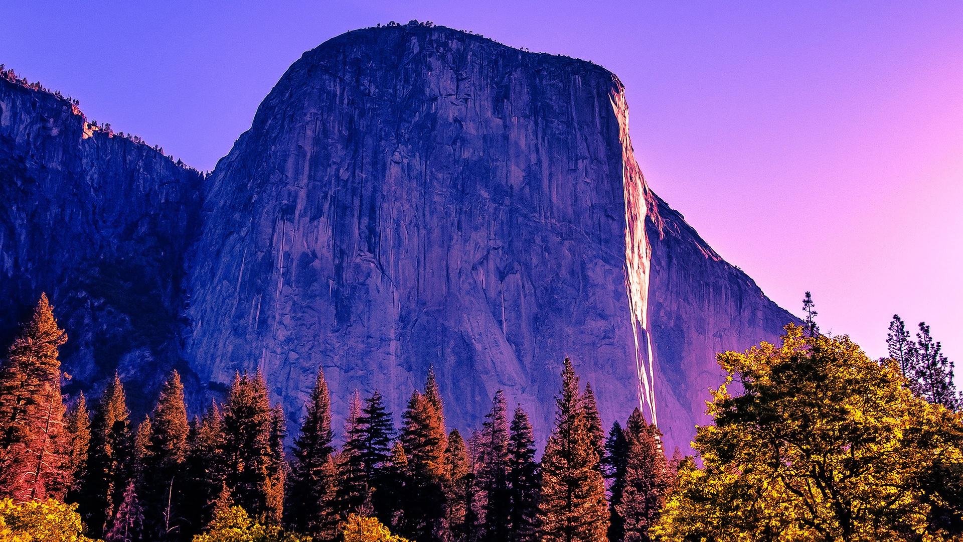 Wallpaper California Trees Rocks Mountains Yosemite