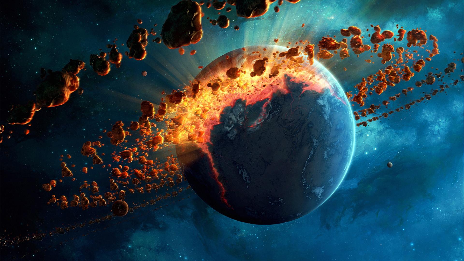 壁纸星球破坏 流星带 太空1920x1200 Hd 高清壁纸 图片 照片