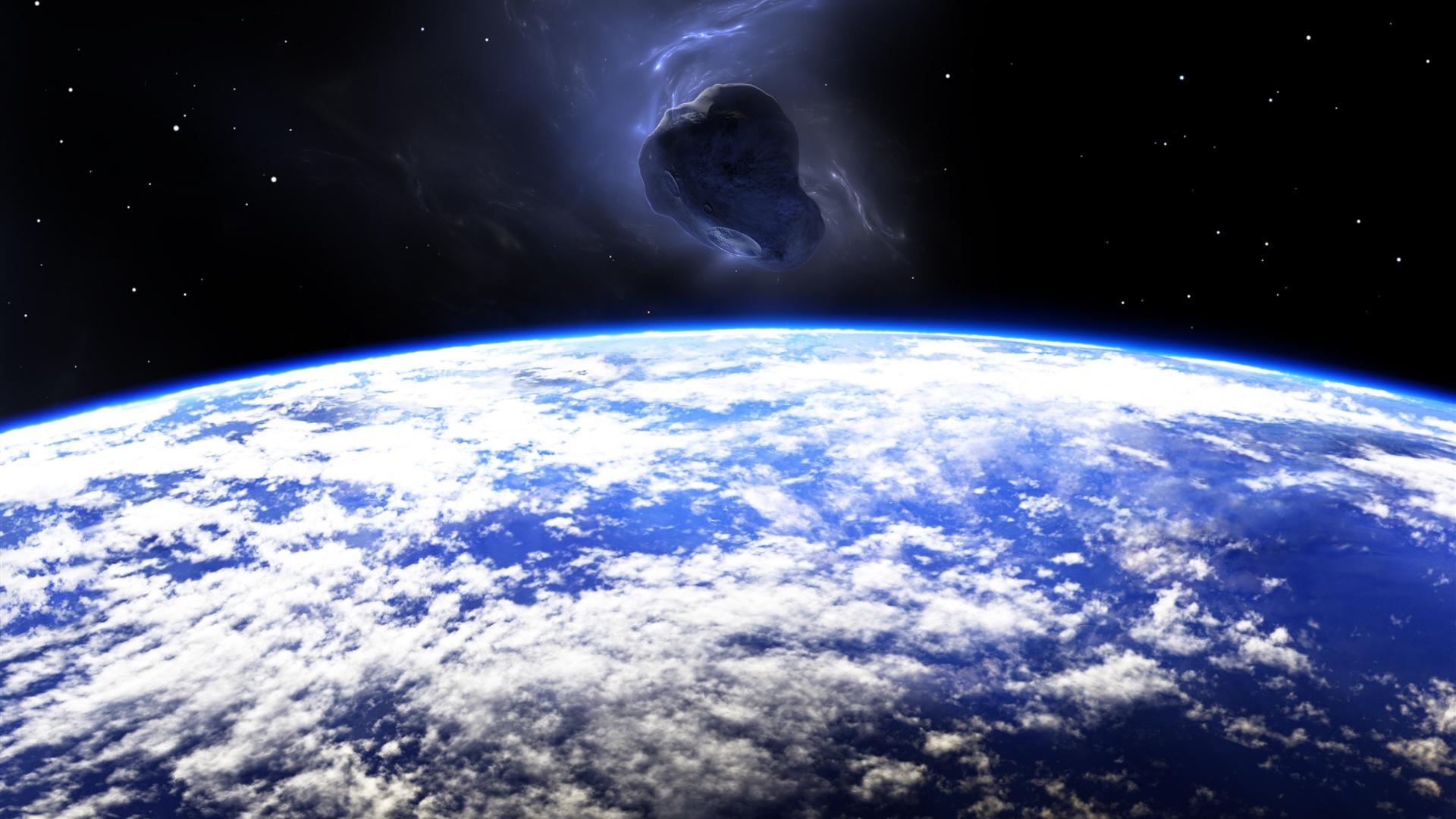 Fondos De Pantalla Planeta, Tierra, Meteorito, Espacio