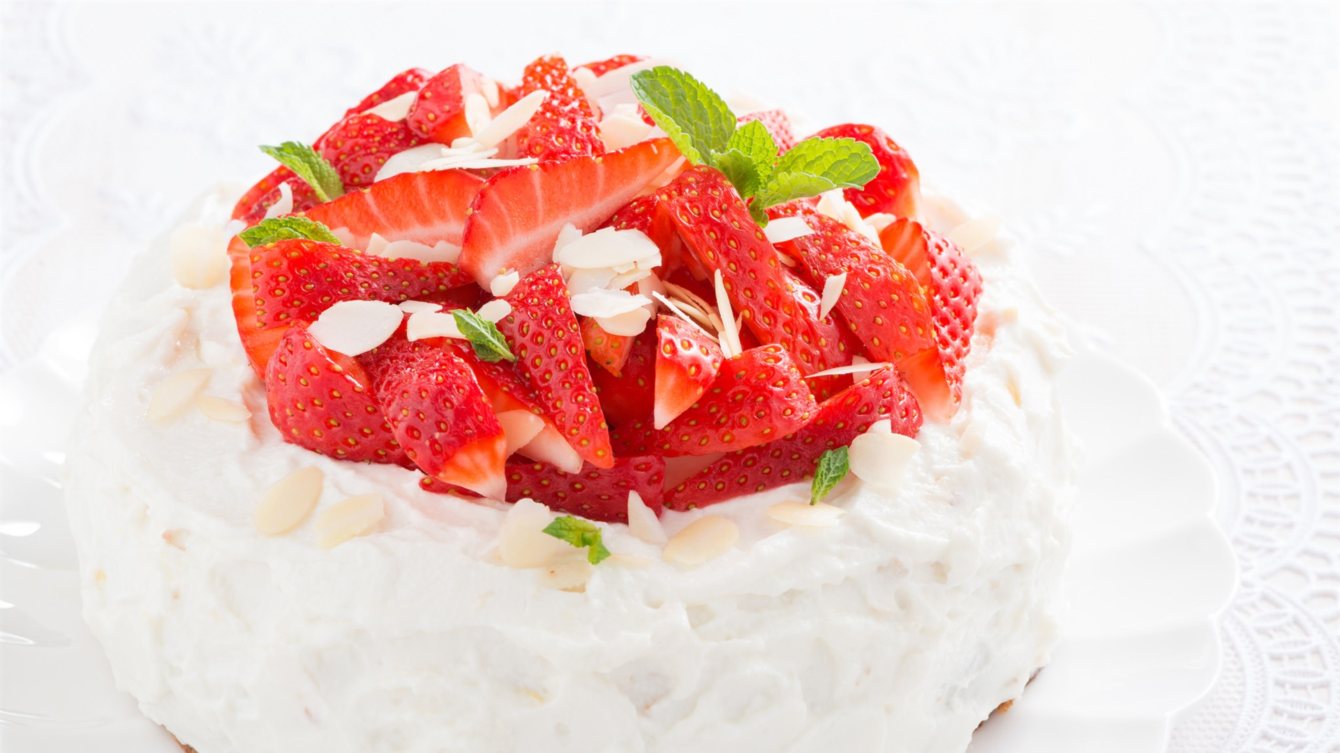 Strawberry Cake Images Download : Strawberry cake, dessert, delicious Wallpaper 1920x1080 ...