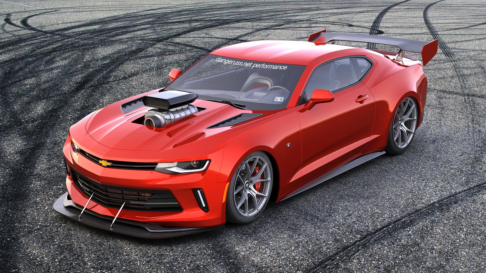 красный спортивный автомобиль chevrolet camaro red sports car скачать