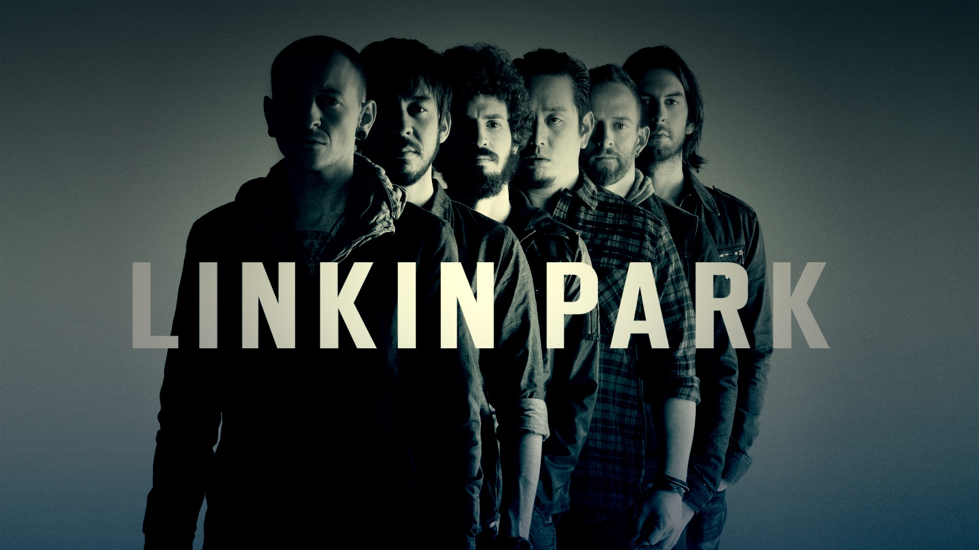 Wallpaper Linkin Park Rock Band Black And White Style