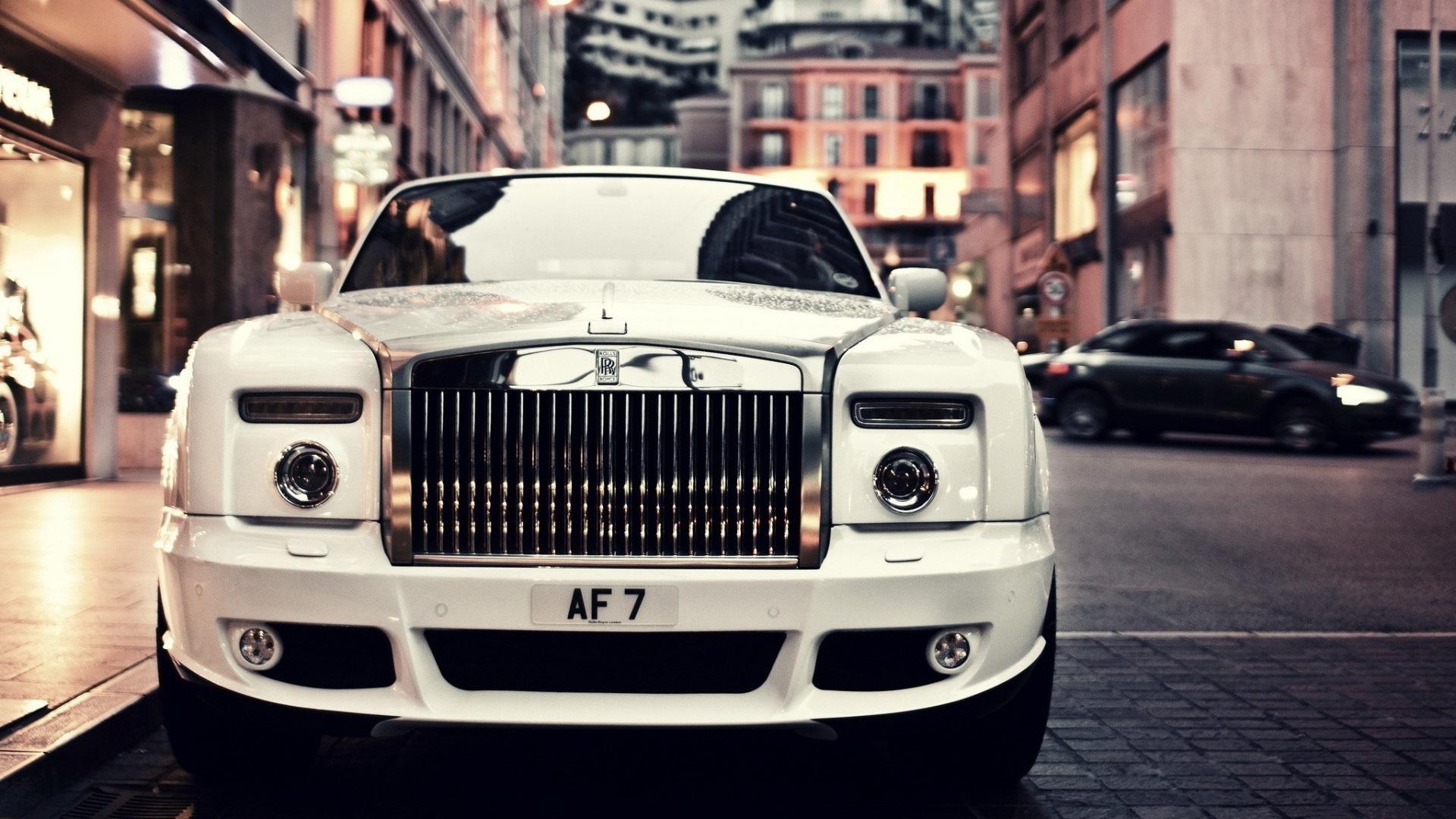 16 Luxury Pubg Wallpaper Iphone 6: 壁紙 ロールスロイスファントム白い車の正面図 1920x1200 HD 無料