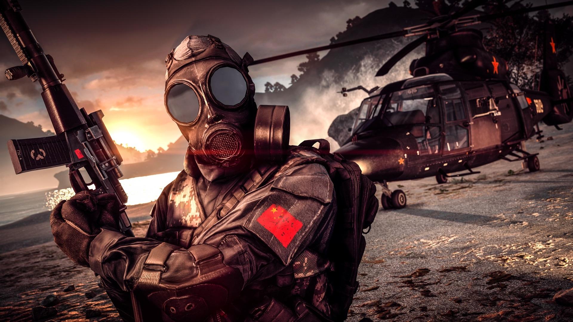 Battlefield4のガスマスク