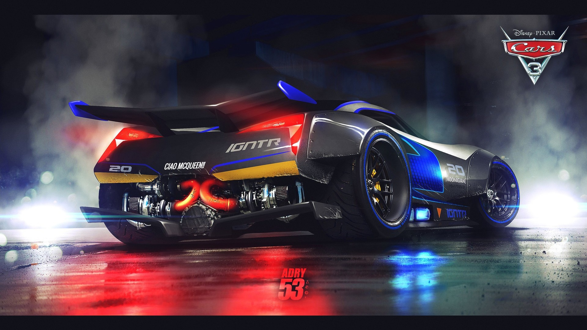 wallpaper cars 3 disney pixar movie supercar rear view