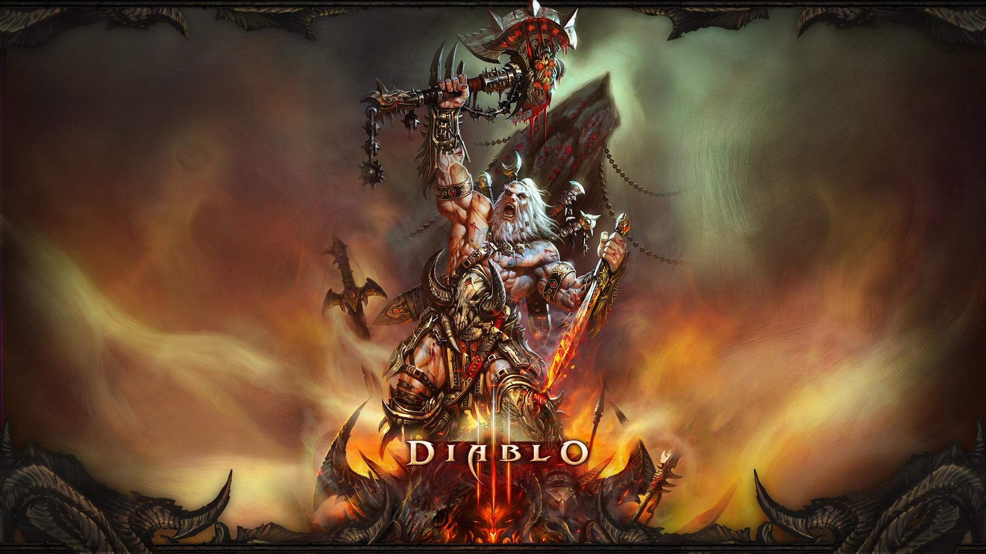 Diablo 3 Wallpaper 1920x1080: Wallpaper Diablo 3, Barbarian 1920x1080 Full HD 2K Picture