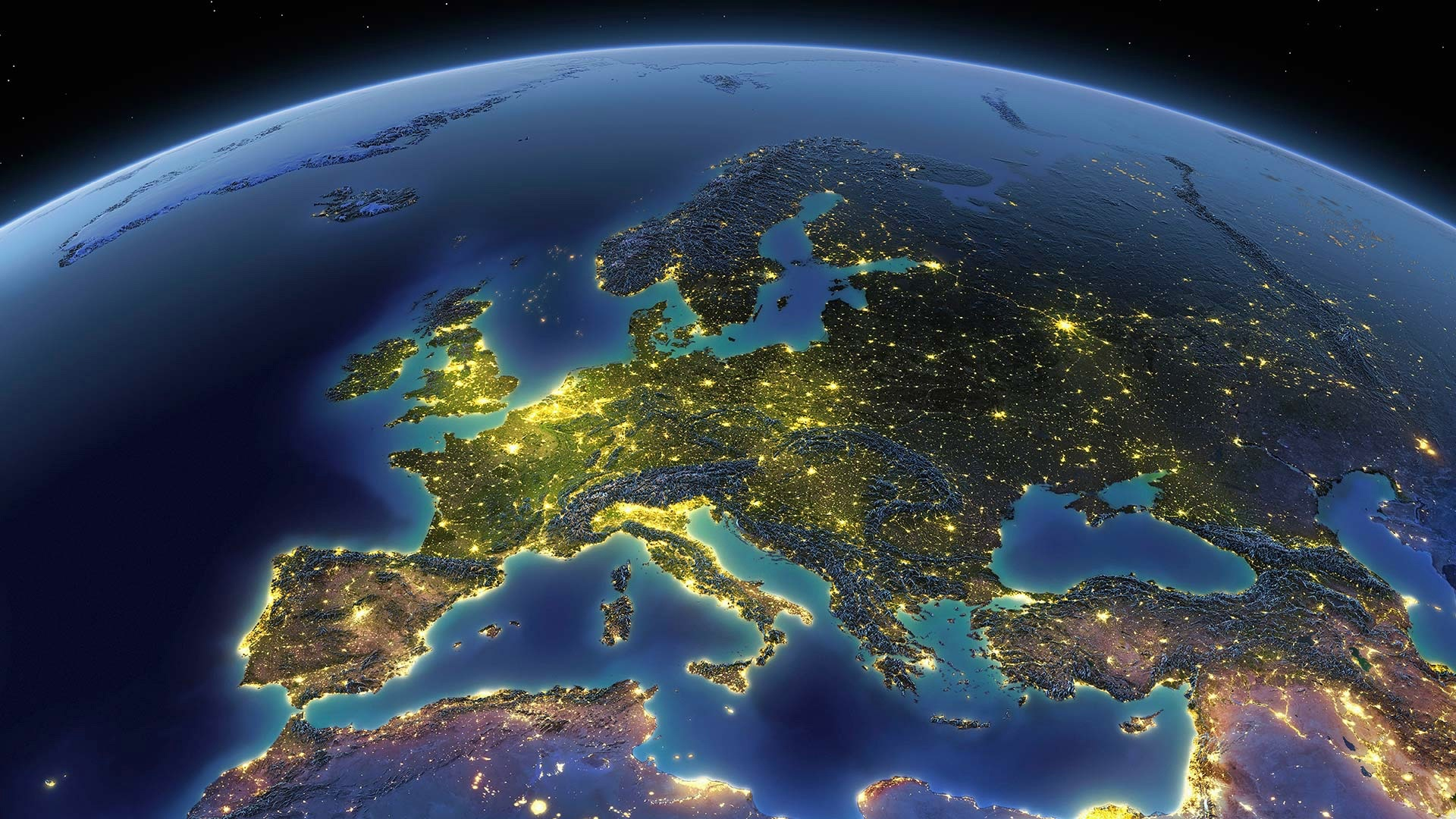 Fonds D Ecran Terre Planete Espace Europe Mer