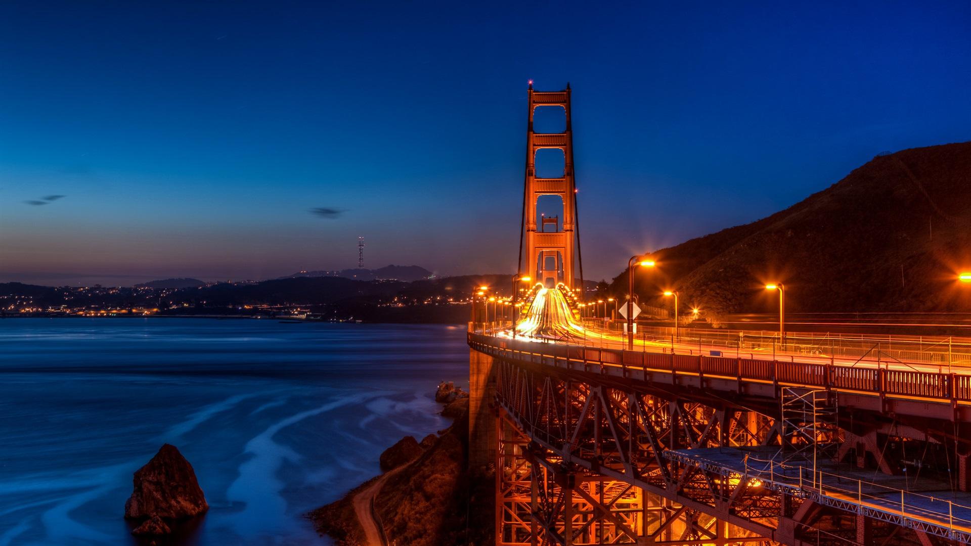 Beautiful Wallpaper Night Golden Gate Bridge - San-Francisco-Golden-Gate-Bridge-night-lights-city-USA_1920x1080  Collection-33866.jpg