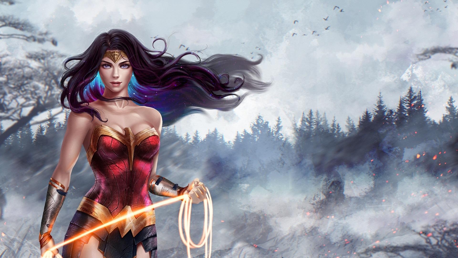 Fondos De Pantalla Wonder Woman Diana Hermosa Chica Dc