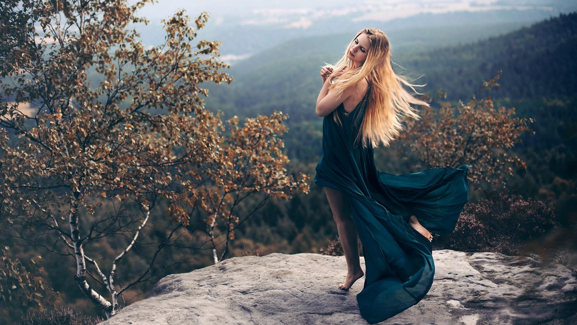 девушка платье лес березки без регистрации