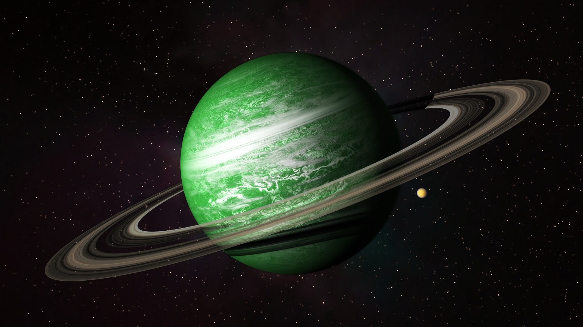 wallpaper green planet, belt, universe 1920x1080 full hd picture, image