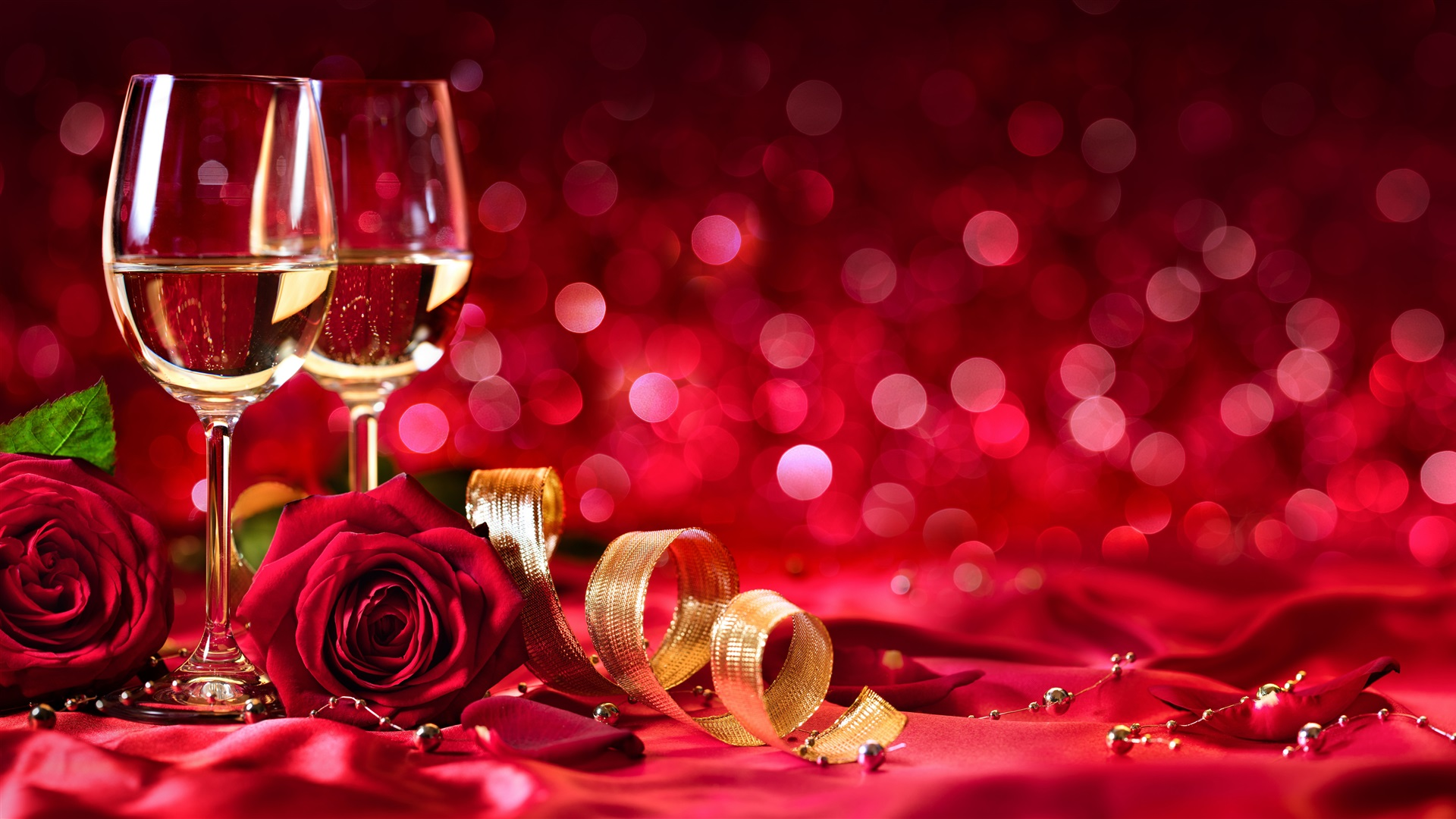 Wallpaper Wine Red Roses Shine Red Background Romantic