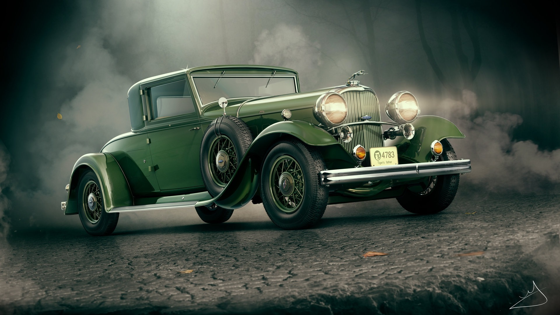 Wallpaper 1932 Lincoln Kb Green Car 1920x1080 Full Hd 2k Picture Image
