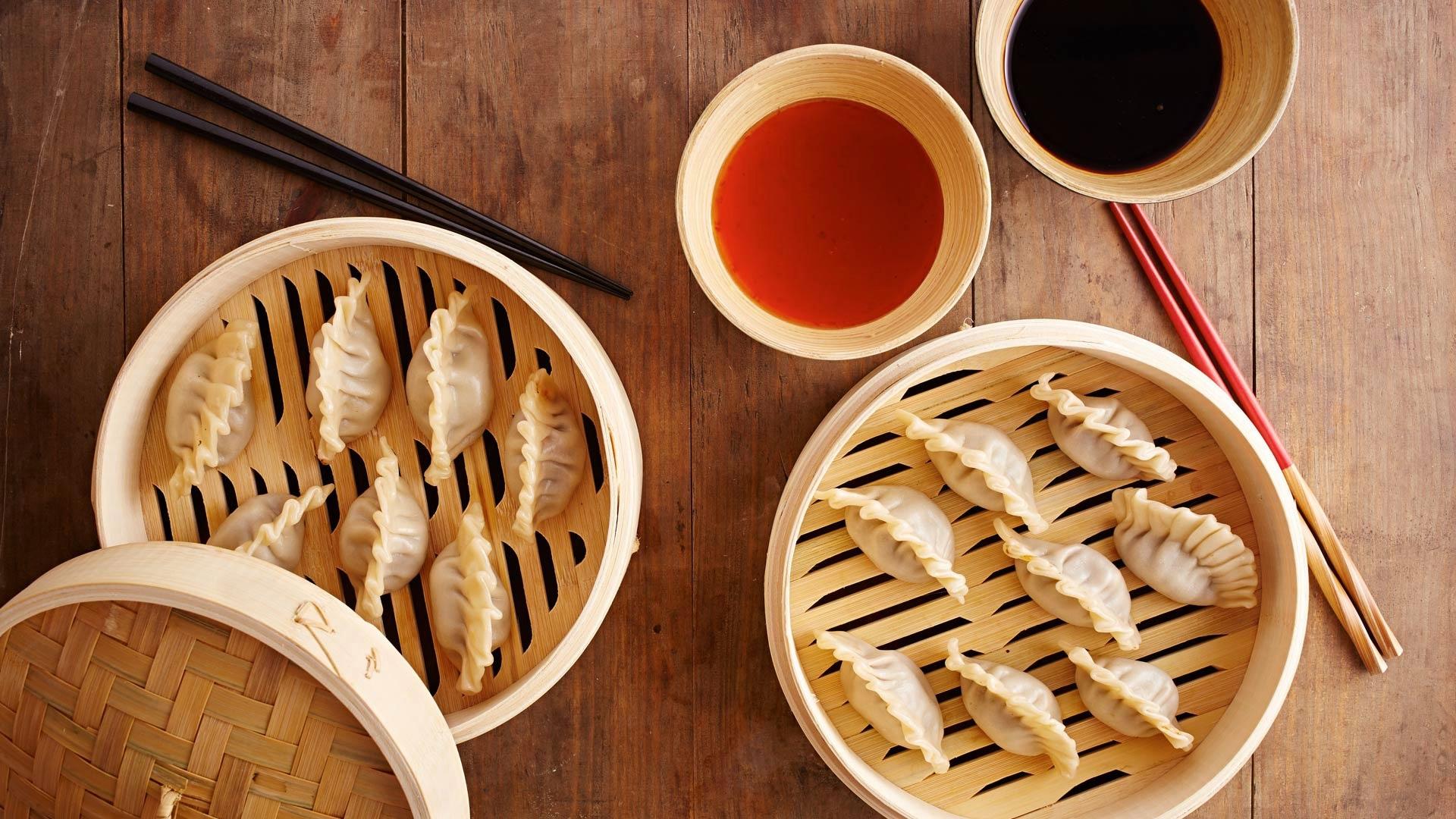 Wallpaper Chinese Food Dumplings Sticks 1920x1080 Full Hd