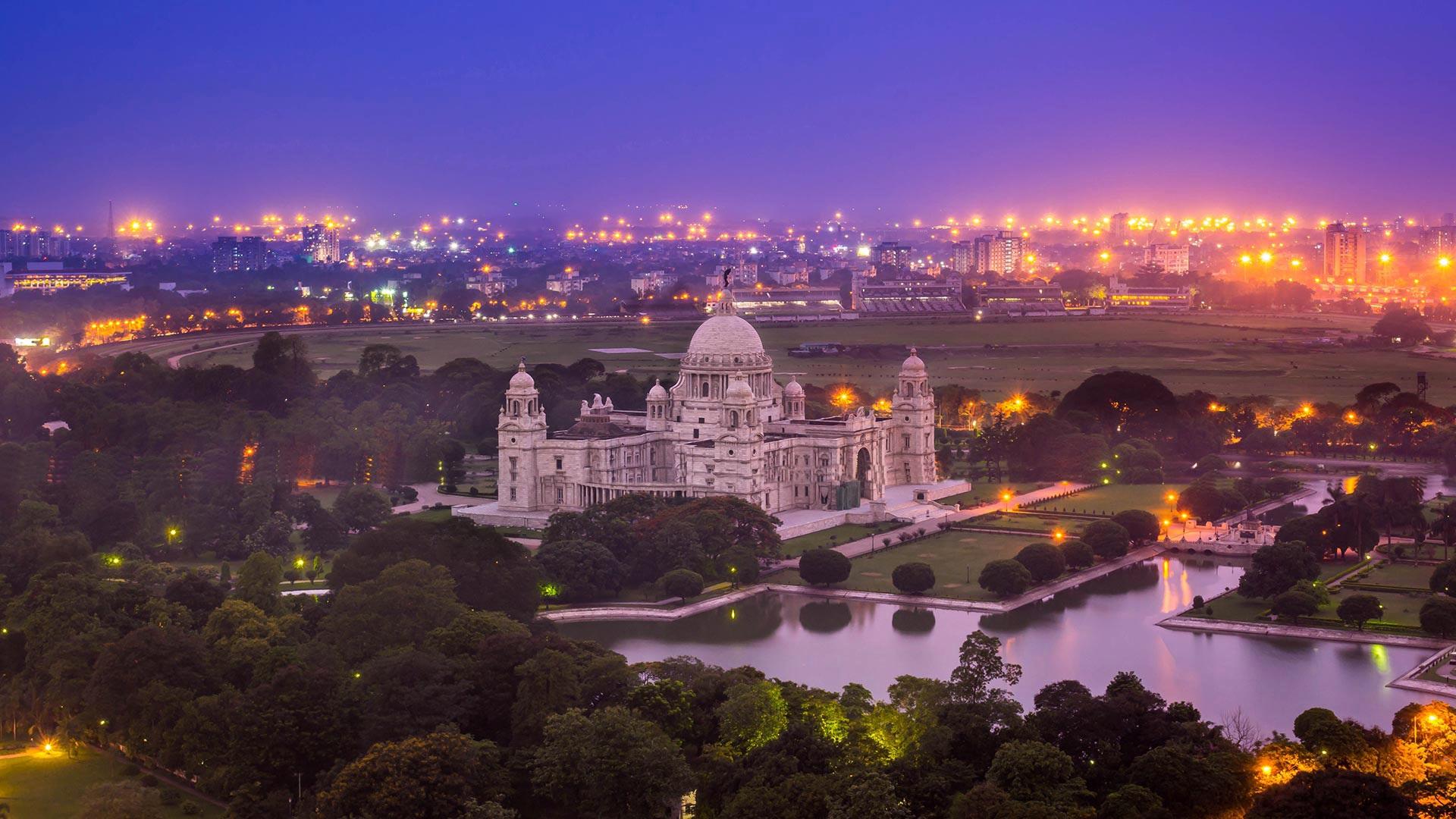 wallpaper india, victoria memorial, kolkata, west bengal, night