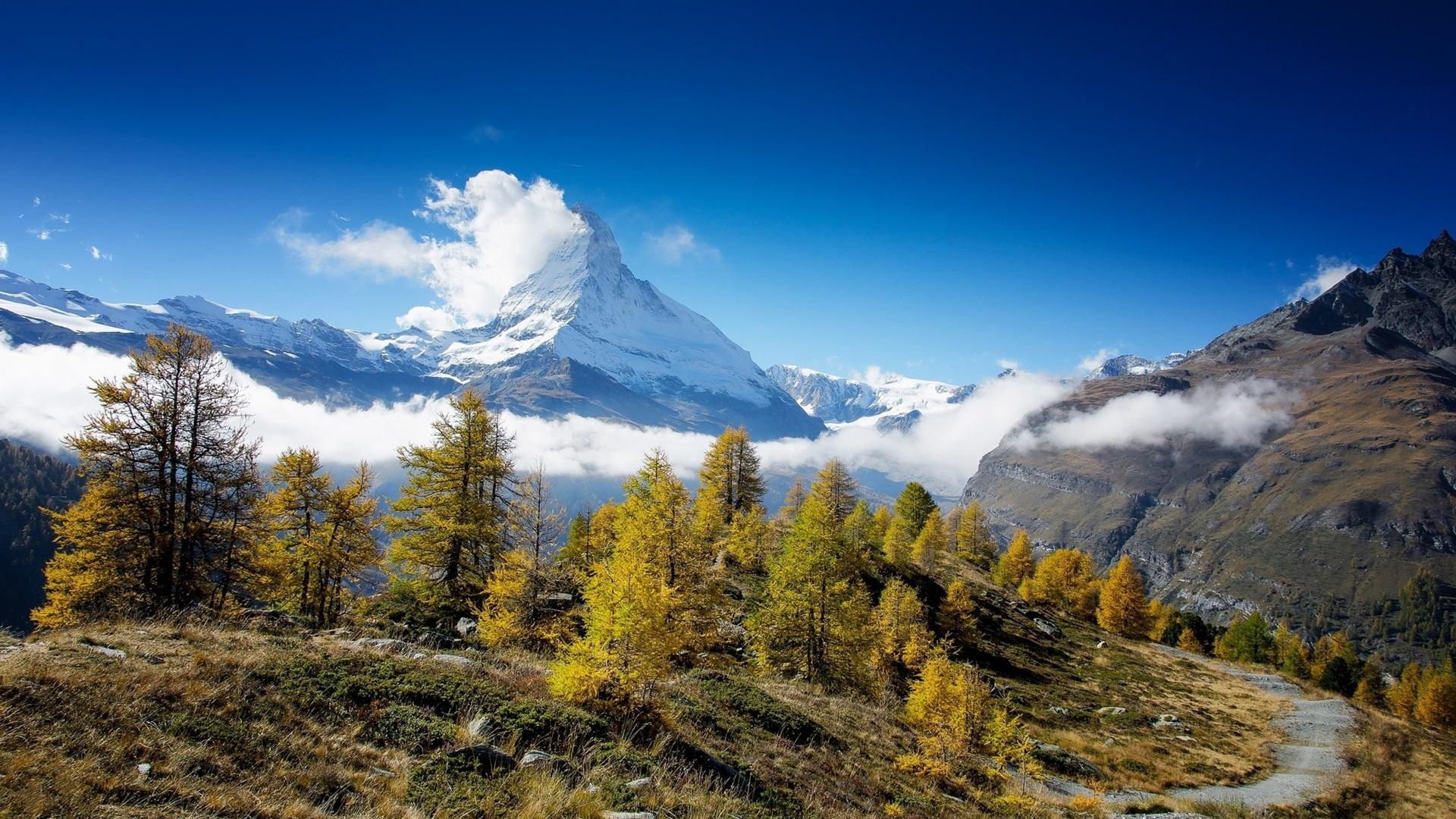 foto de Fonds d'écran Paysage de nature montagnes arbres neige