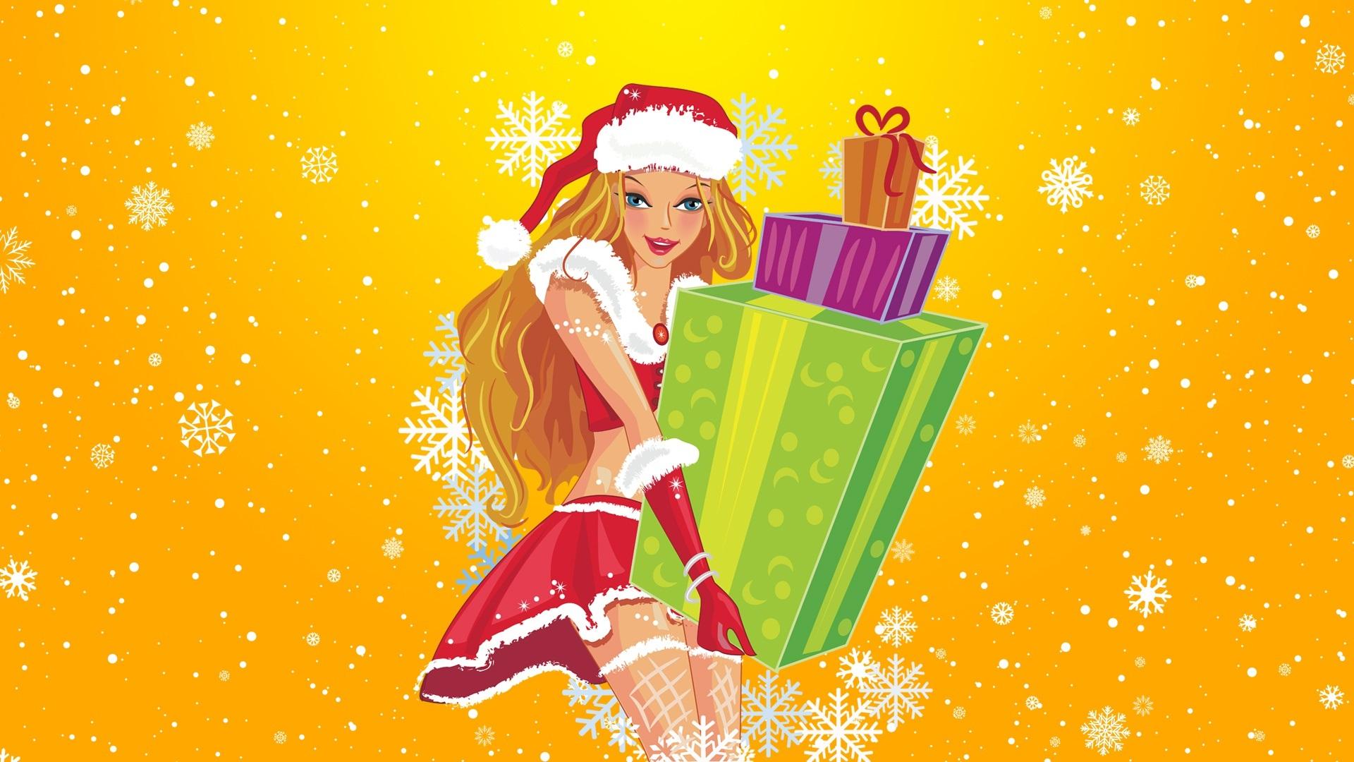 Малыш мама, девочка с подарками открытки