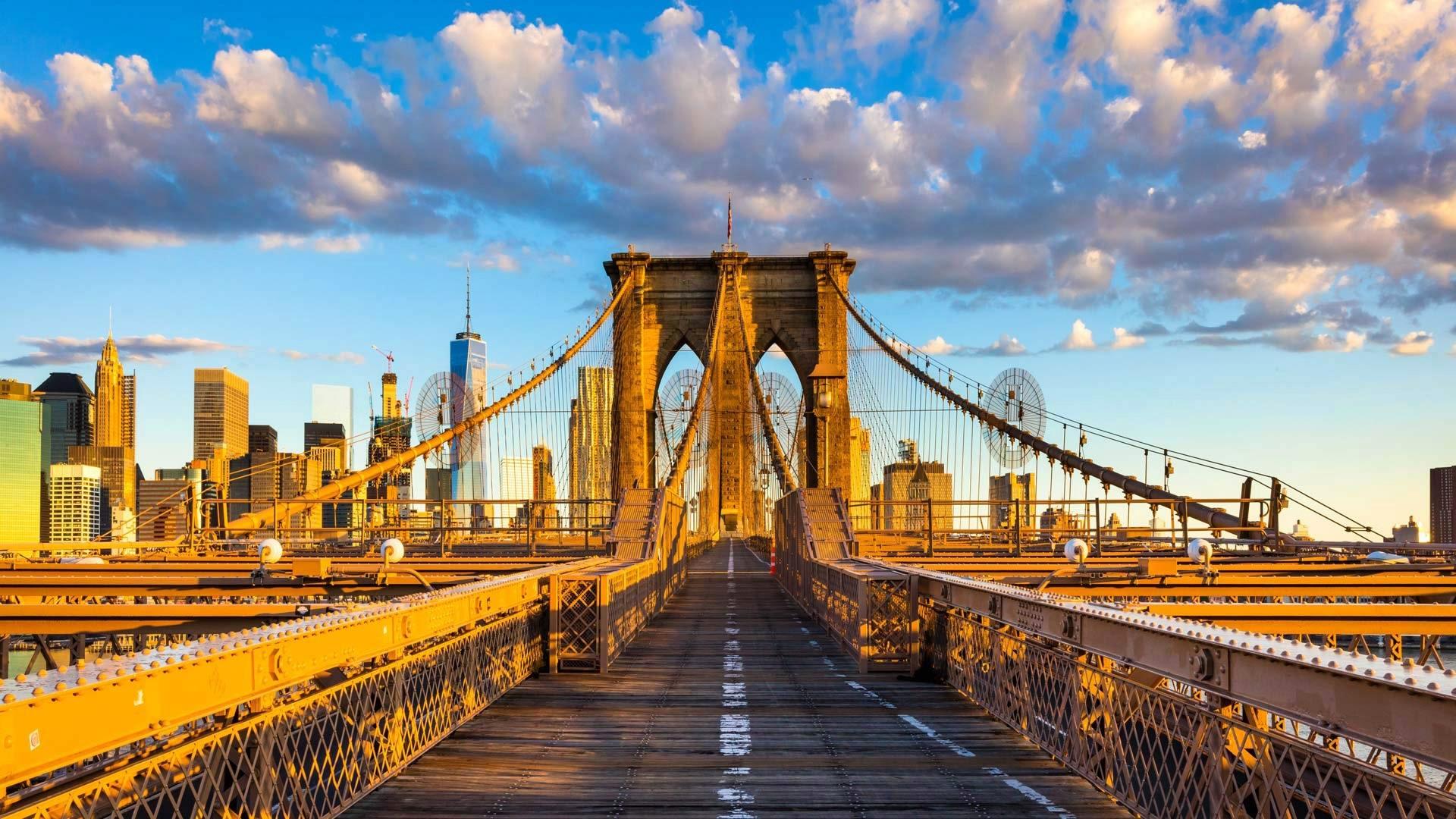 new, york, brooklyn, bridge, usa онлайн