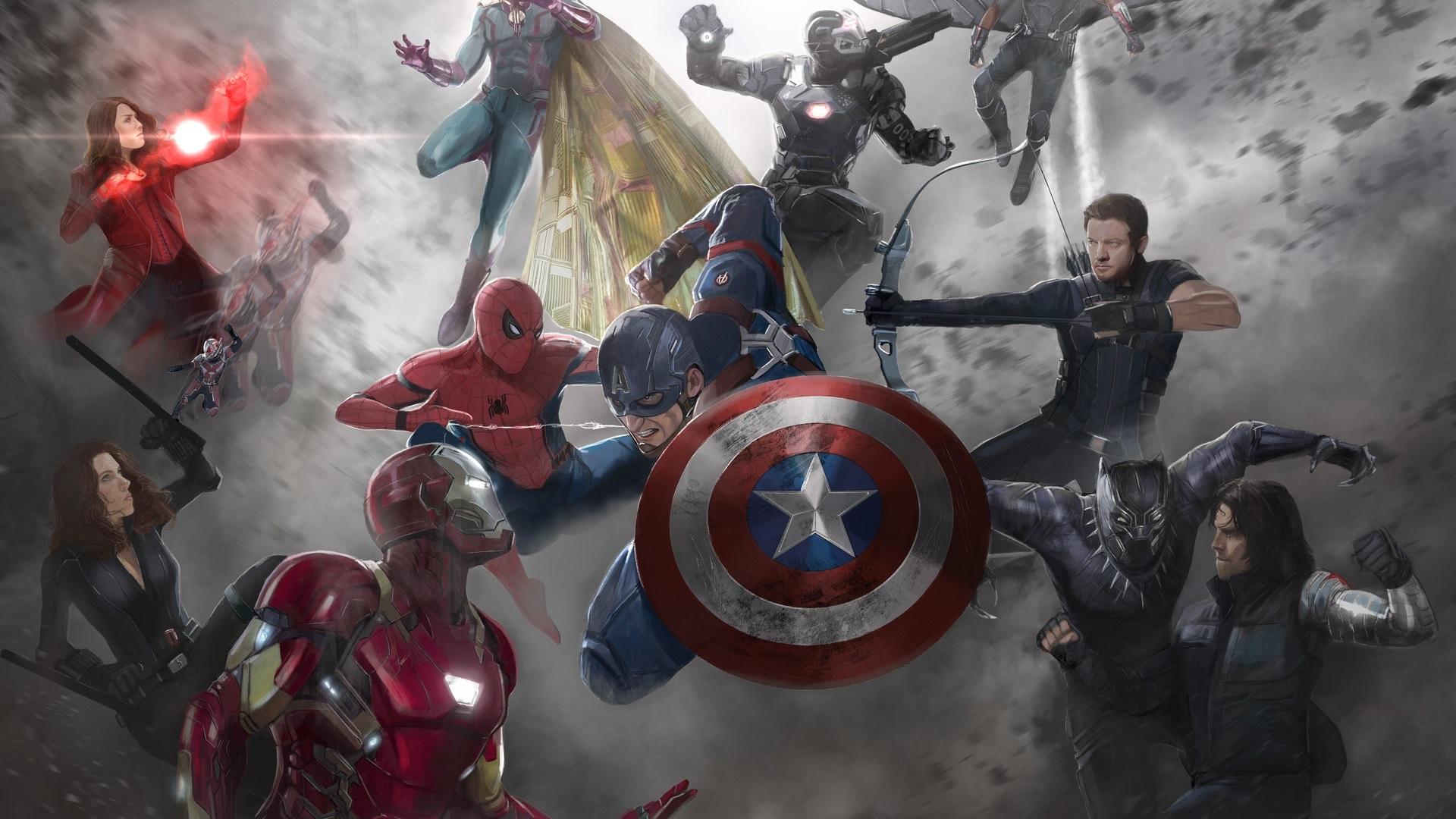 Wallpaper Captain America Civil War Art Picture Marvel Comics