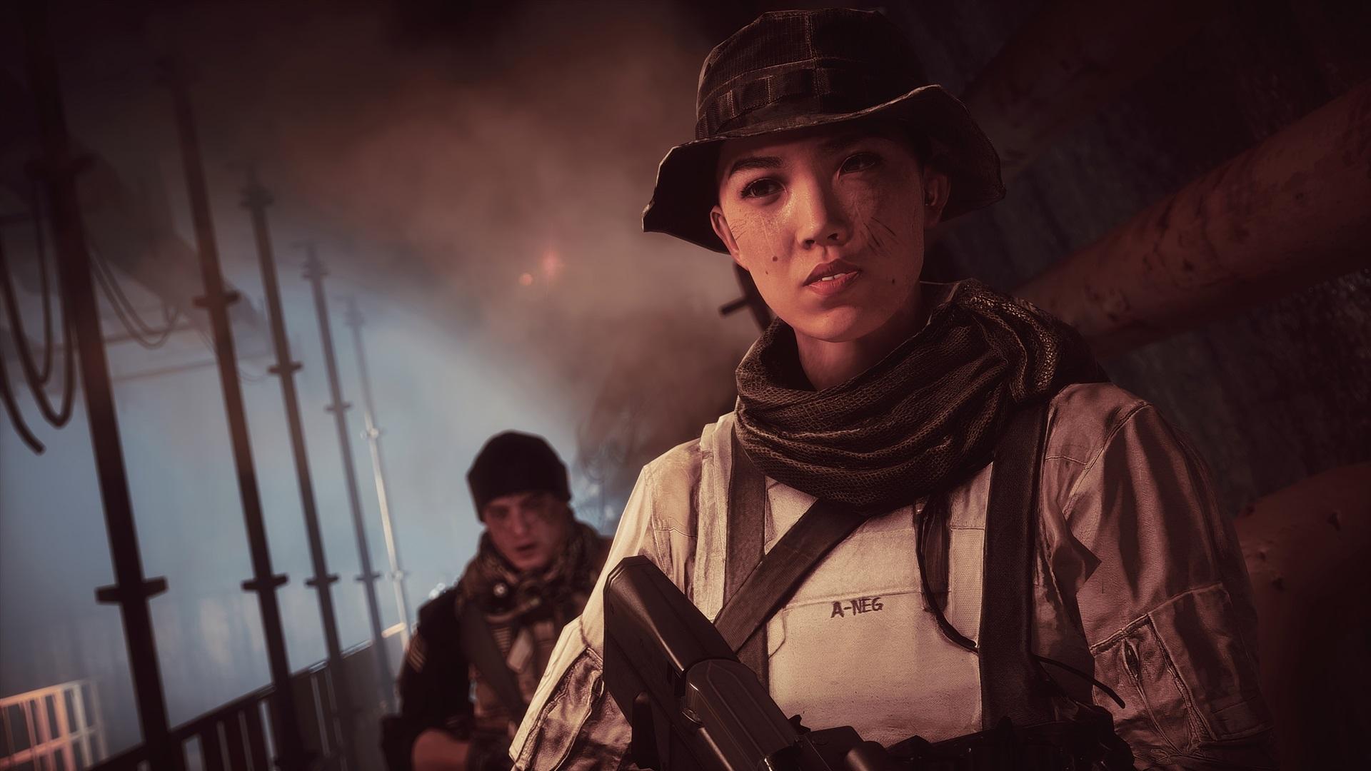 Battlefield4の女性兵士