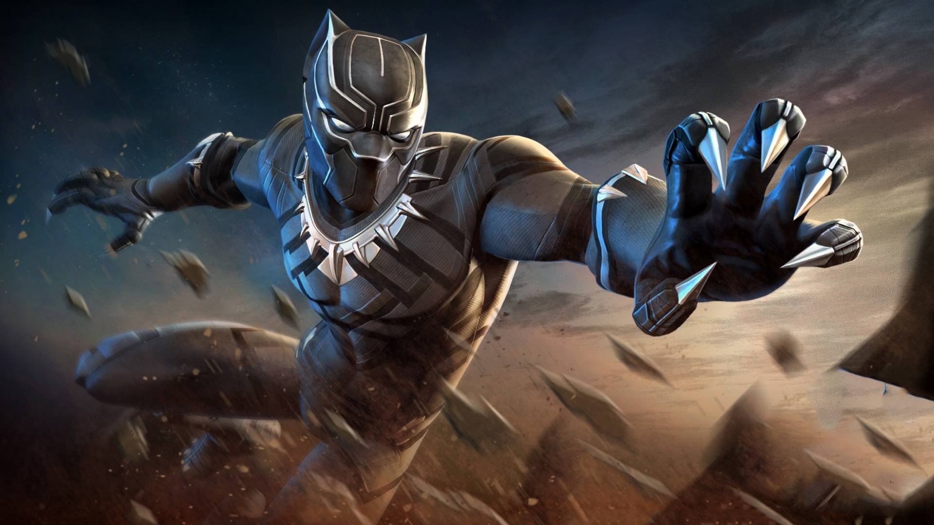 Wallpaper Black Panther Hands Superhero 1920x1080 Full HD Picture