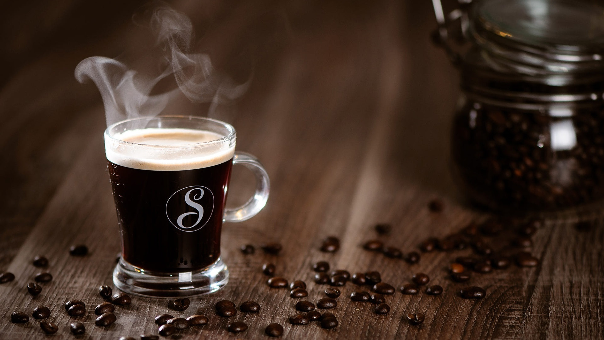 Download Wallpaper 1920x1080 Coffee Glass Cup Steam Full