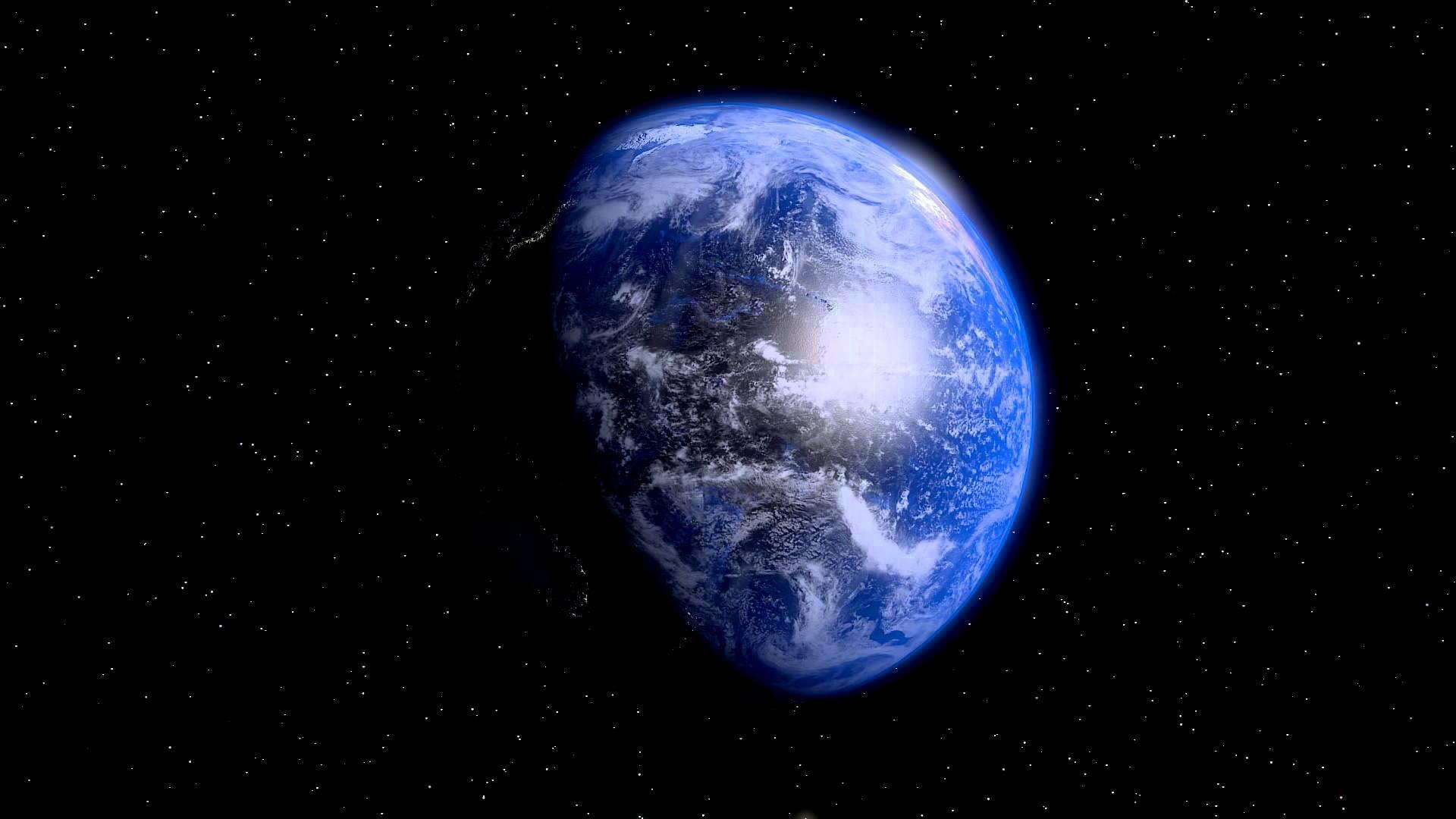 Wallpaper Blue Earth Stars Universe 1920x1080 Full Hd 2k Picture