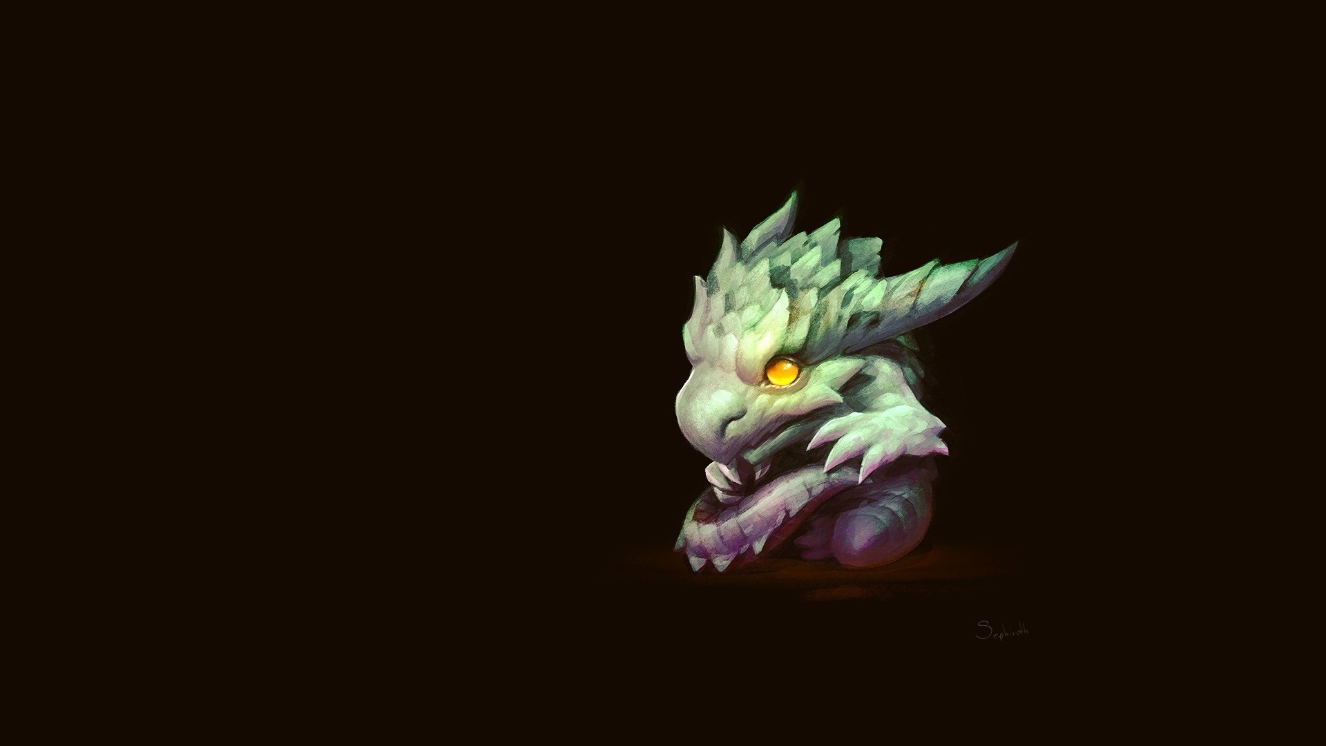 Wallpaper Dragon Art Drawing Black Background 1920x1080 Full Hd 2k Picture Image