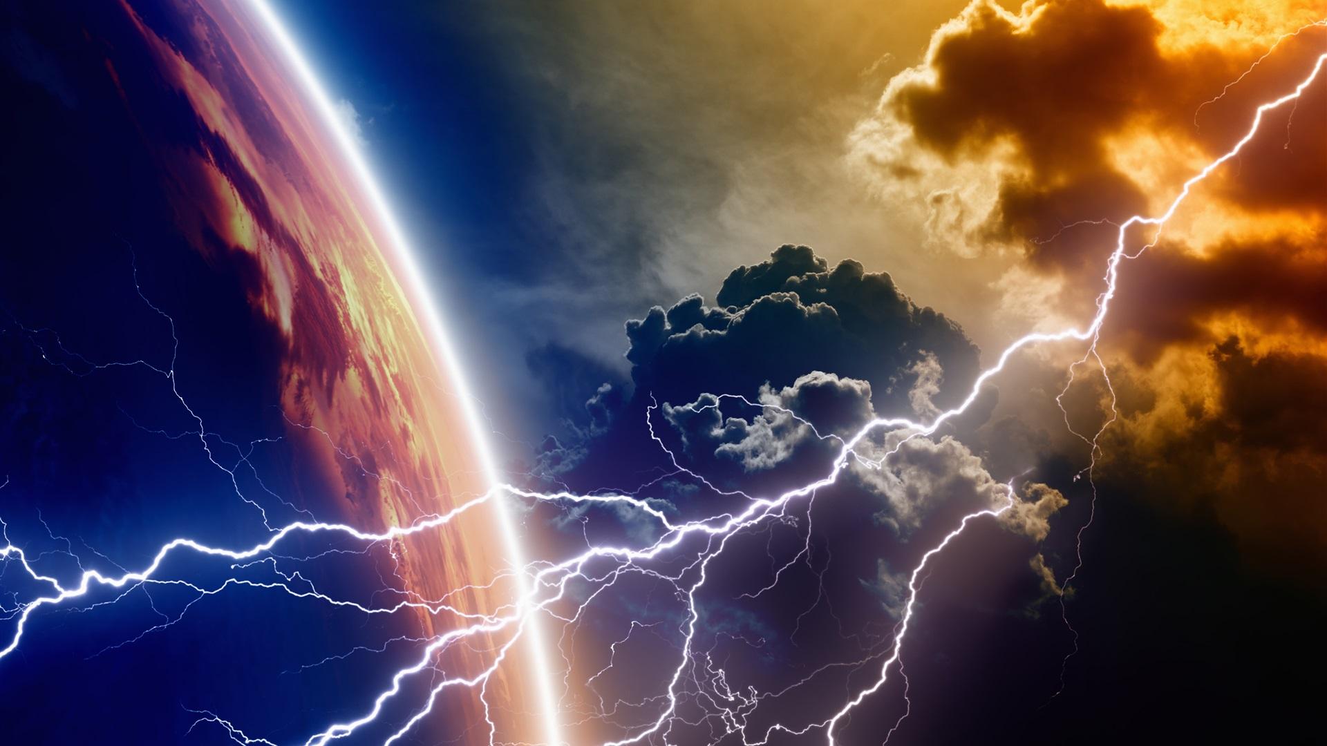 Wallpaper planet clouds lightning 3840x2160 uhd 4k picture image - Lightning wallpaper 4k ...