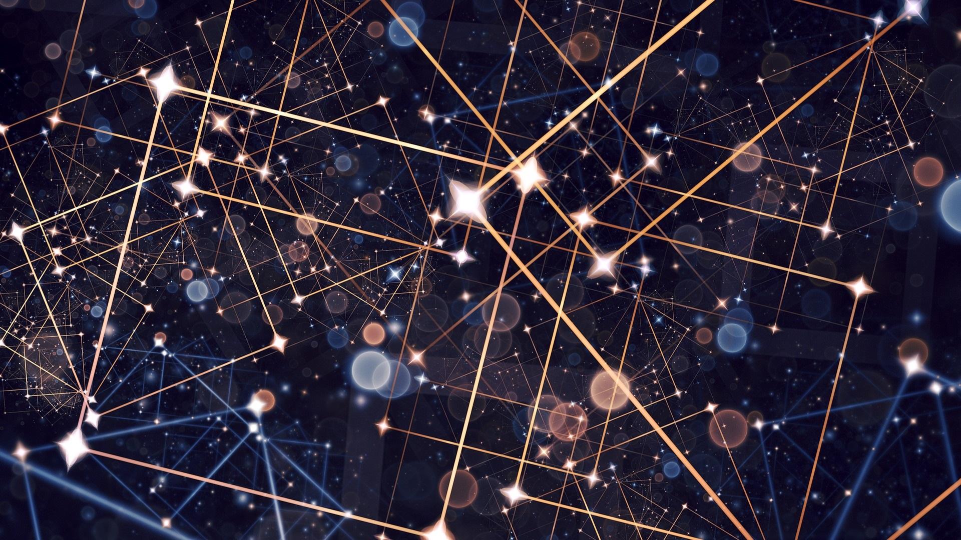 Fondos De Pantalla Estrellas, Líneas, Fondo Abstracto
