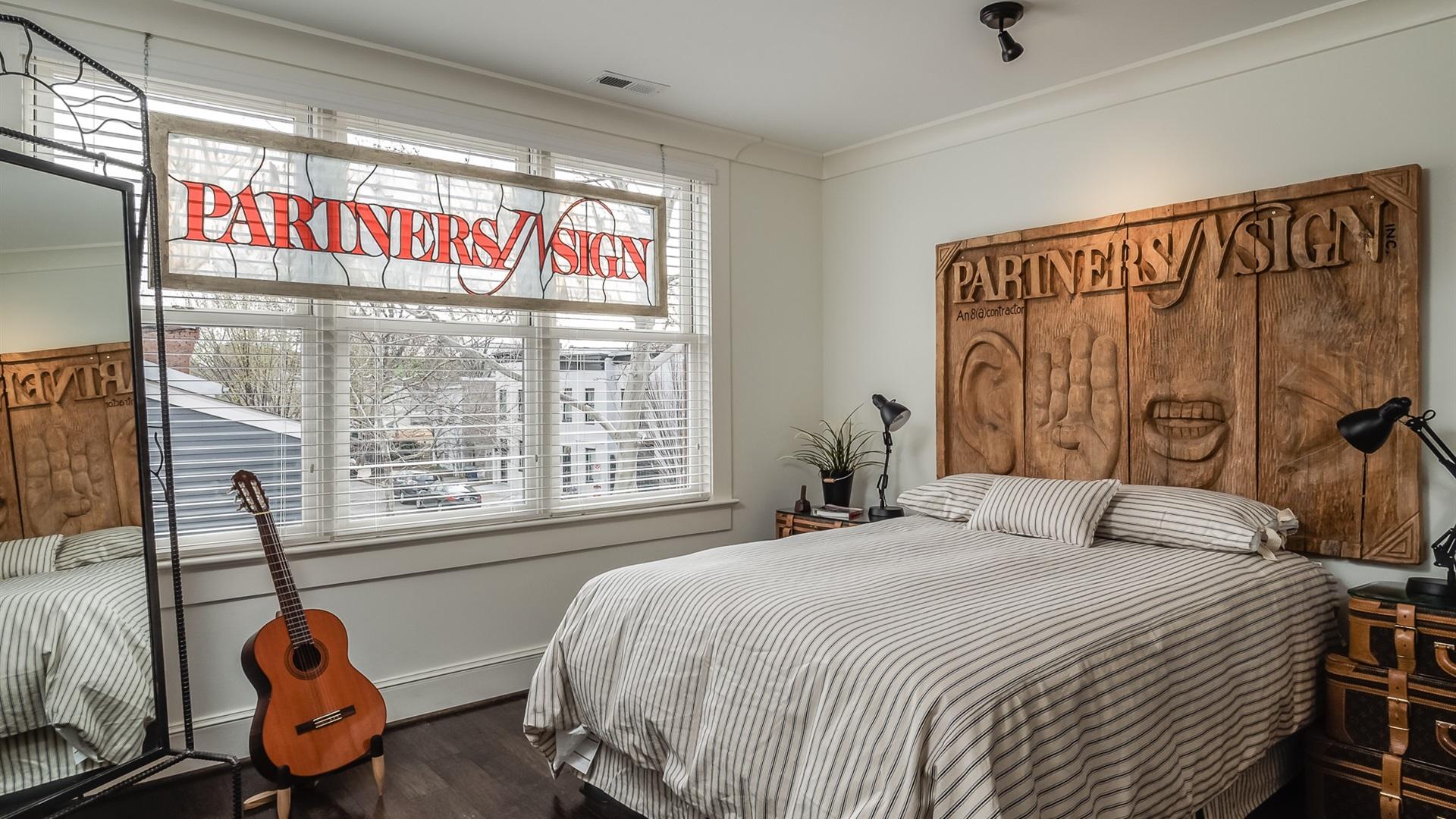 Wallpaper bedroom bed guitar window 1920x1200 hd for Best bedroom wallpaper
