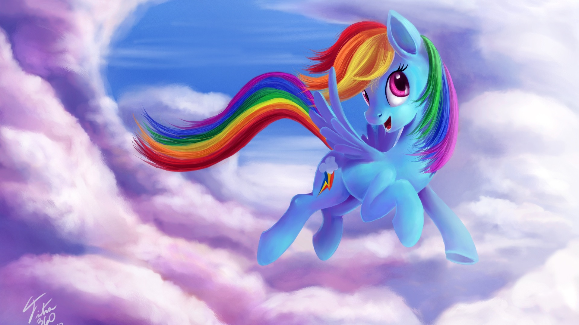 Wallpaper Rainbow Dash My Little Pony Friendship Is Magic