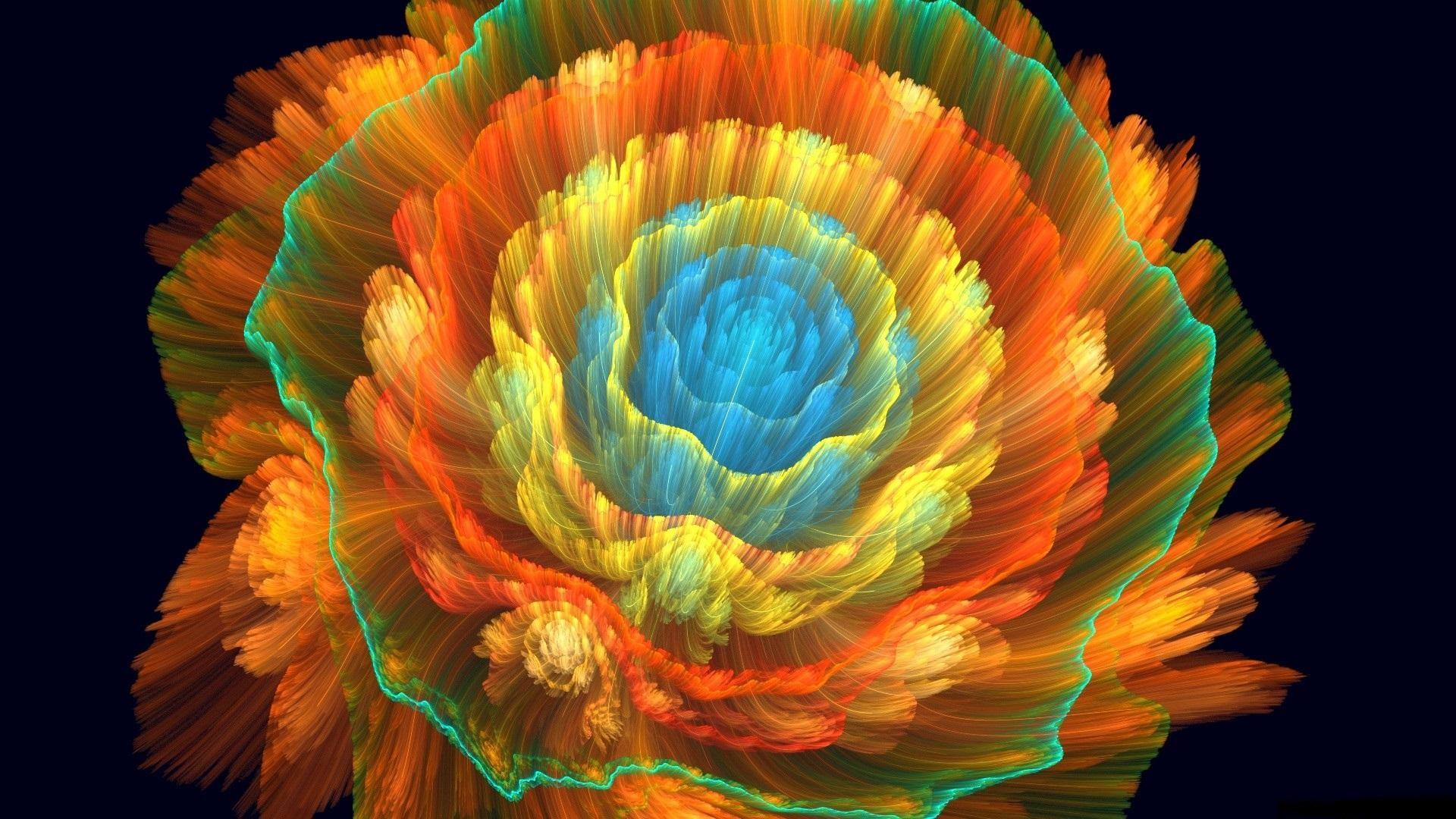 1920x1080 Abstracto Full Hd 1920x1080: Fondos De Pantalla Hermosa Flor Abstracta, Colorida