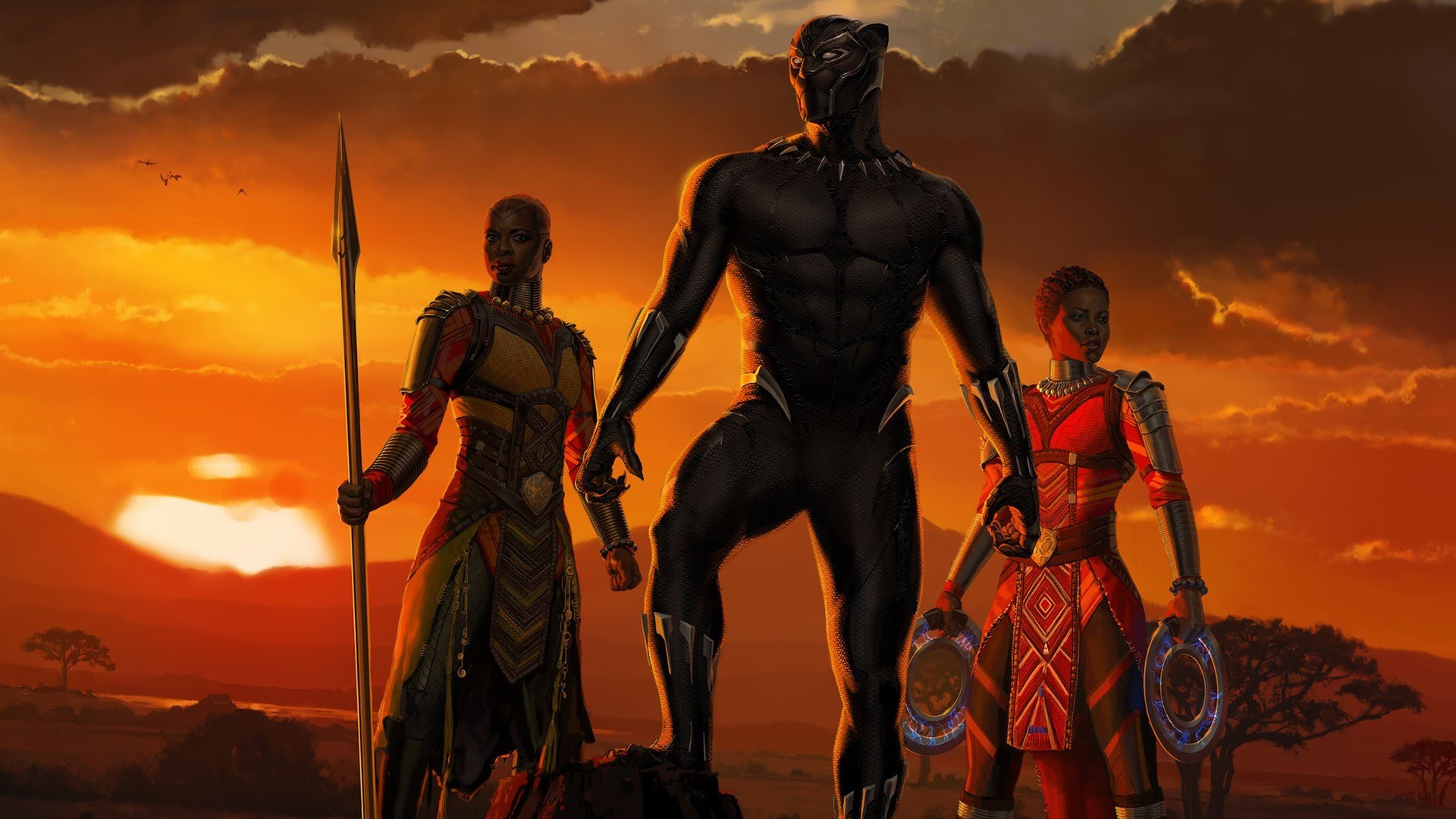 Wallpaper Black Panther 2018 Hd Movies 12198: Wallpaper Black Panther, Africa, 2018 Movie 1920x1080 Full